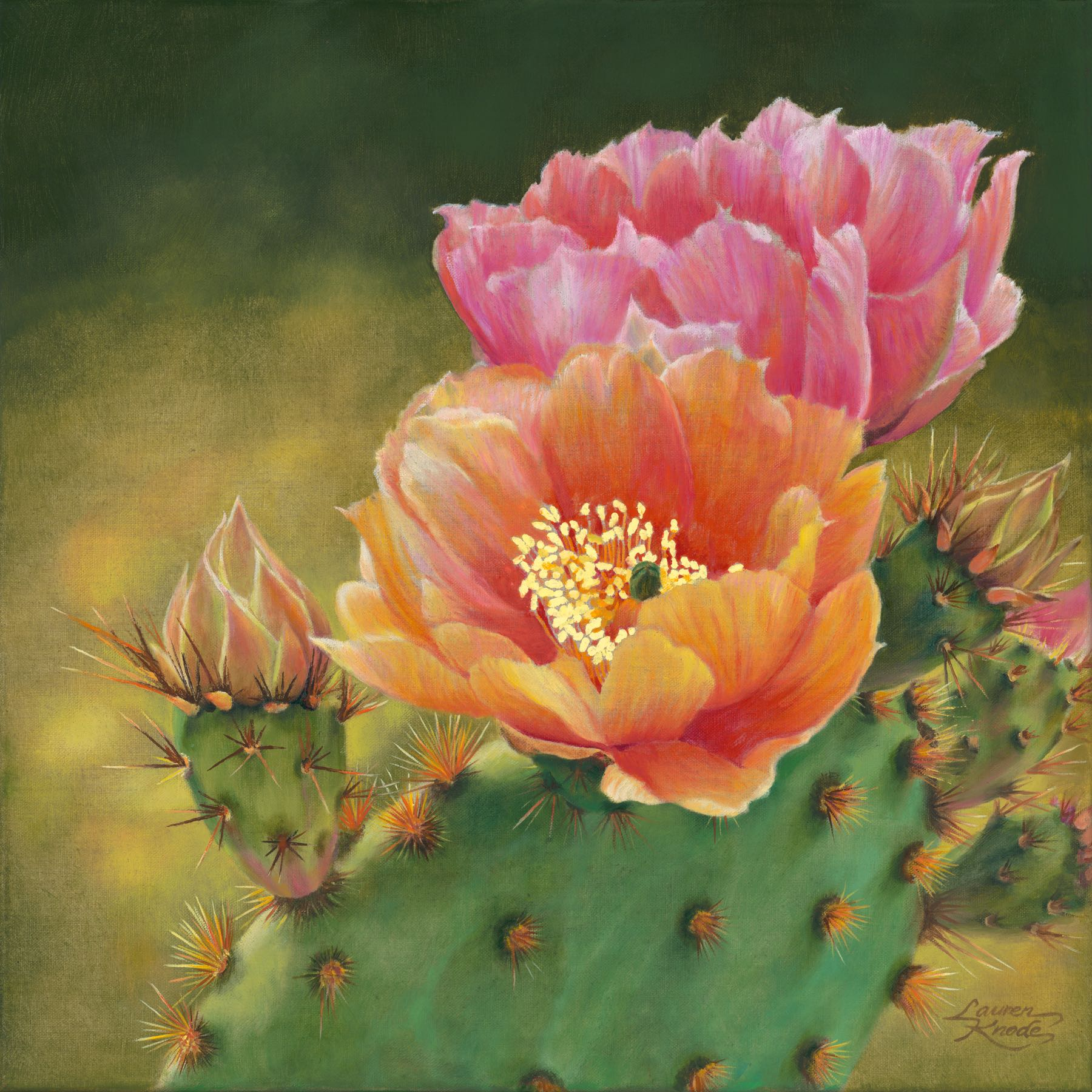 """Prickly Pear Duo II"""