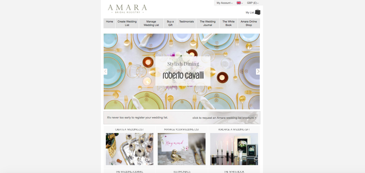 Amara Wedding List