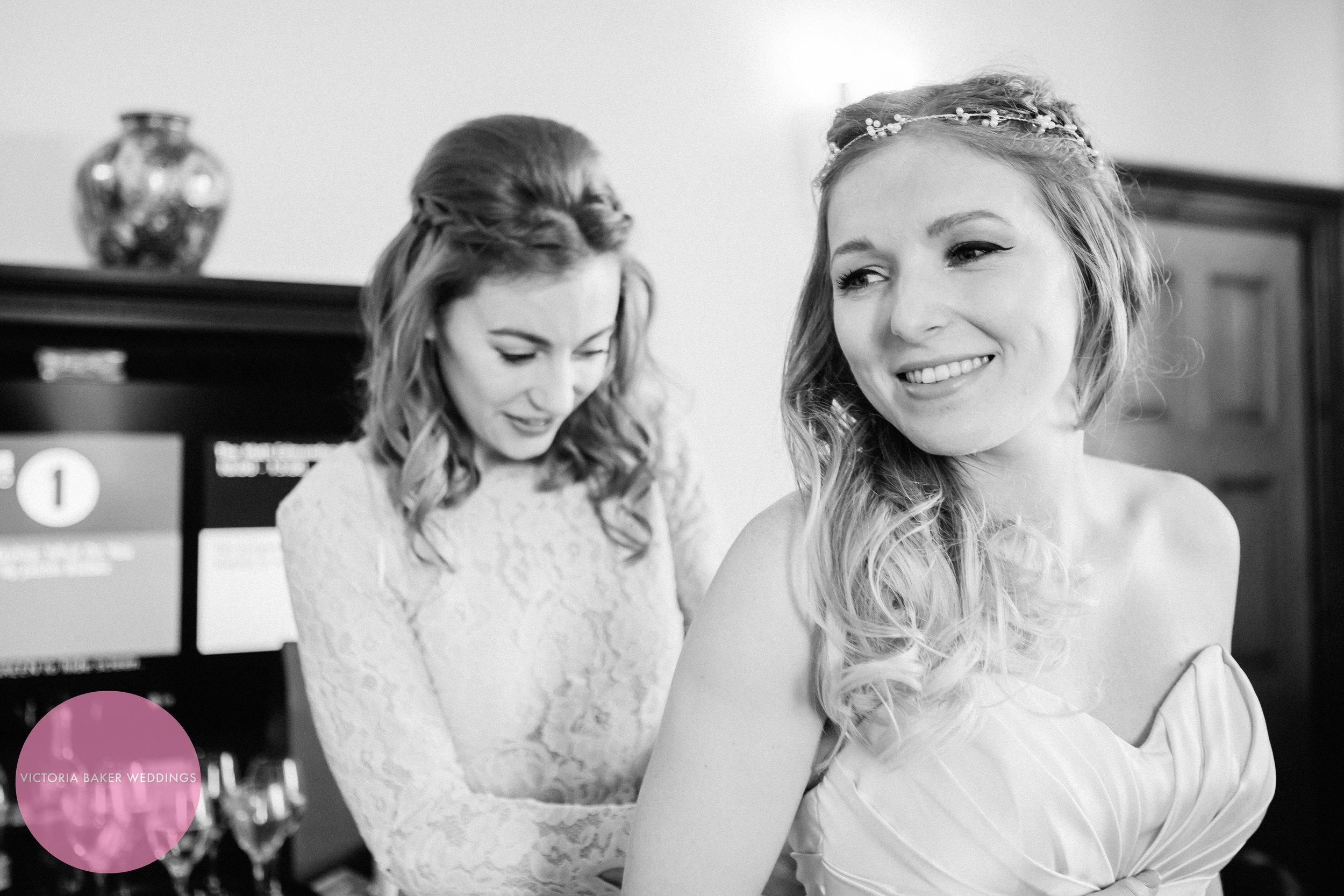 Beautiful Bride and her bridesmaid