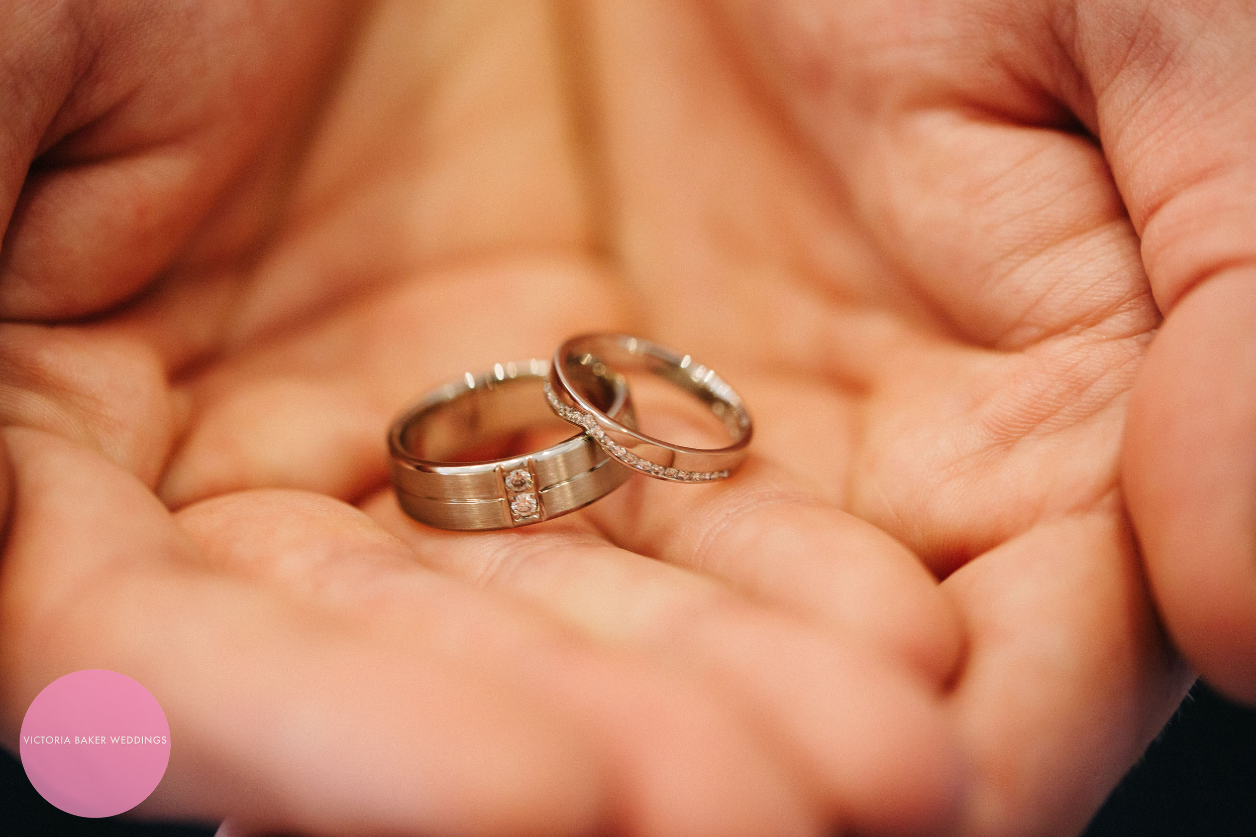 Wedding rings at Oulton Hall Leeds