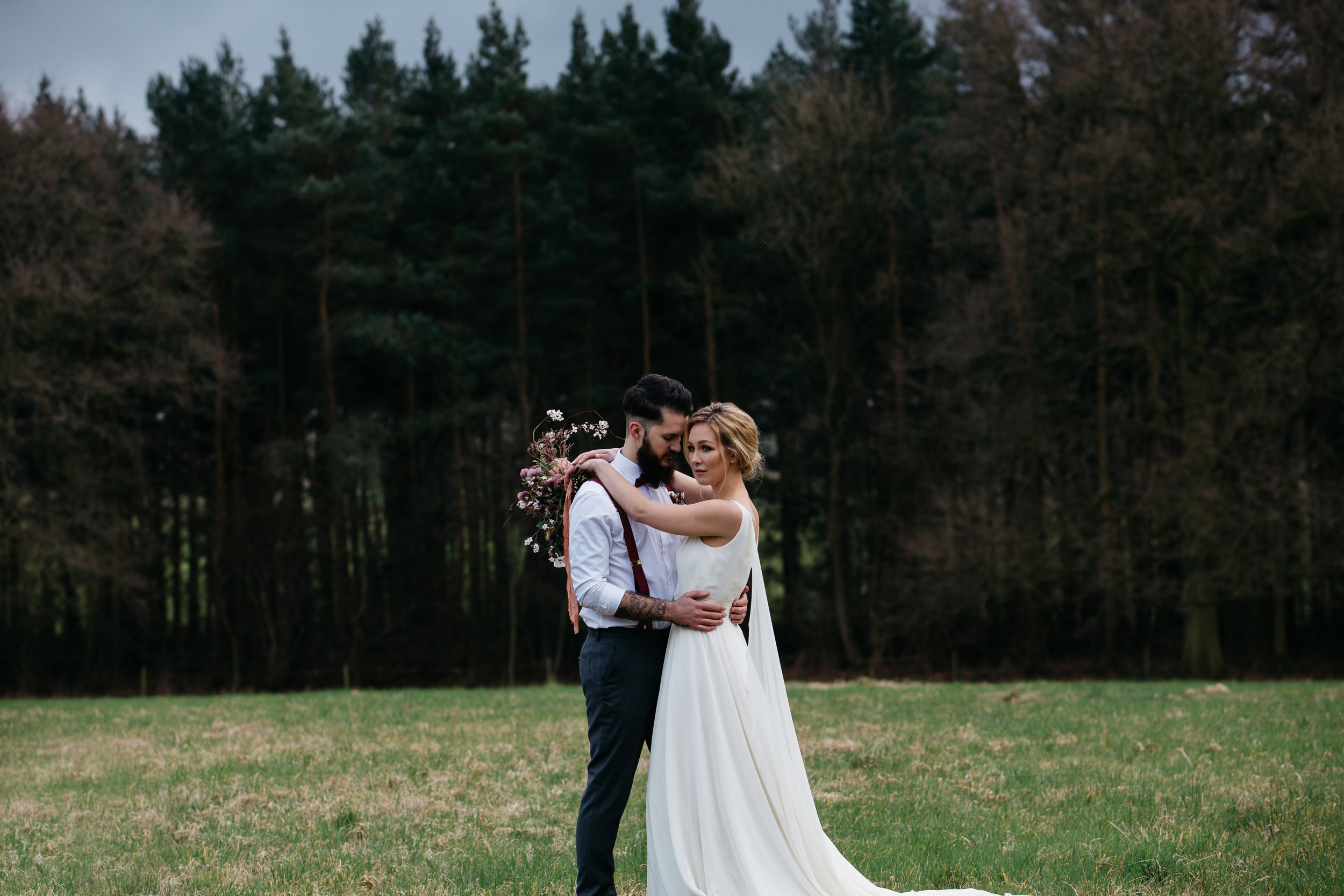 April & Chris at Camp Katur North Yorkshire Wedding