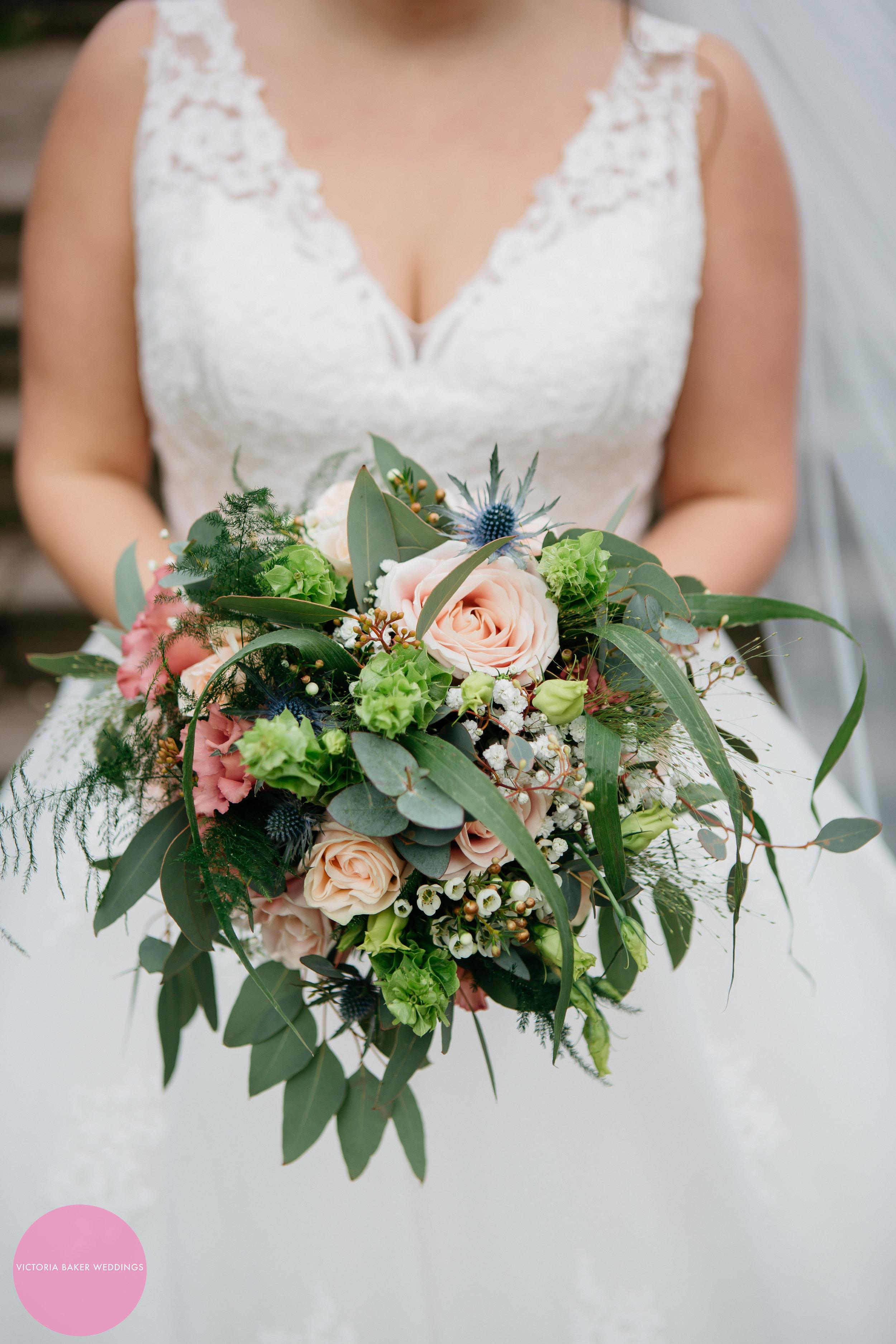 Bride and her bouquet | Wedding Flowers Leeds