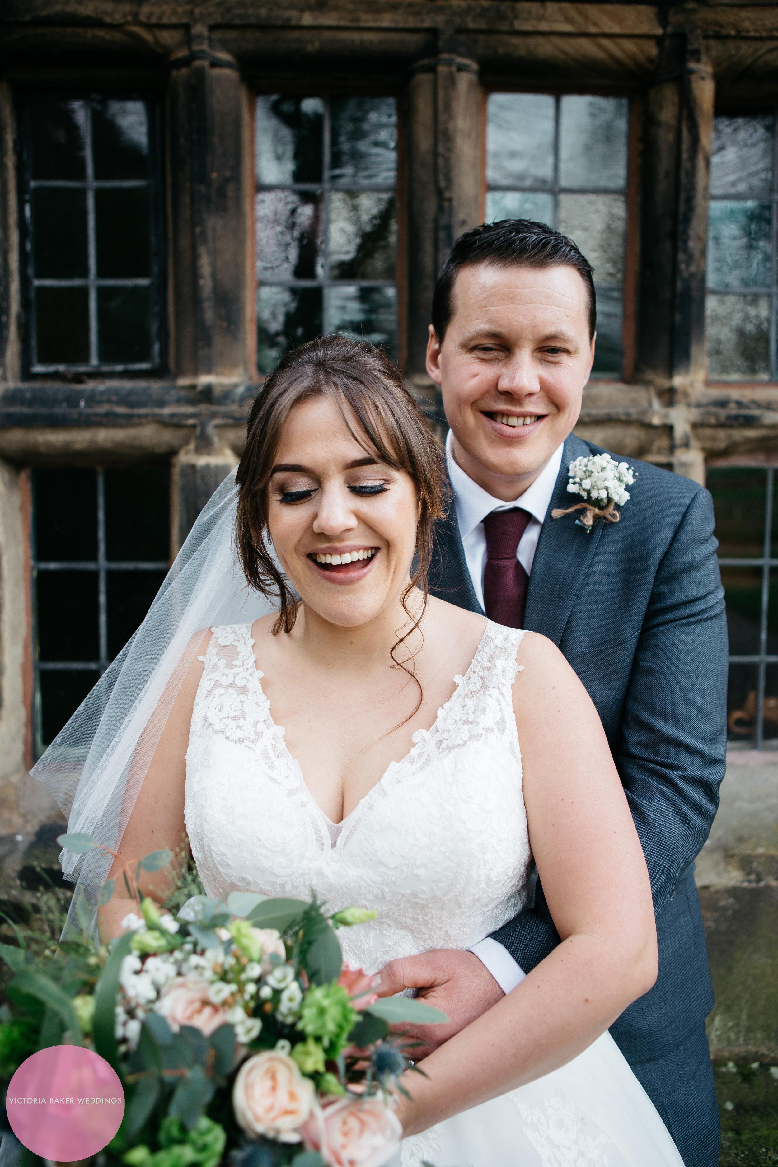 Bride at Groom at Oakwell Hall Leeds