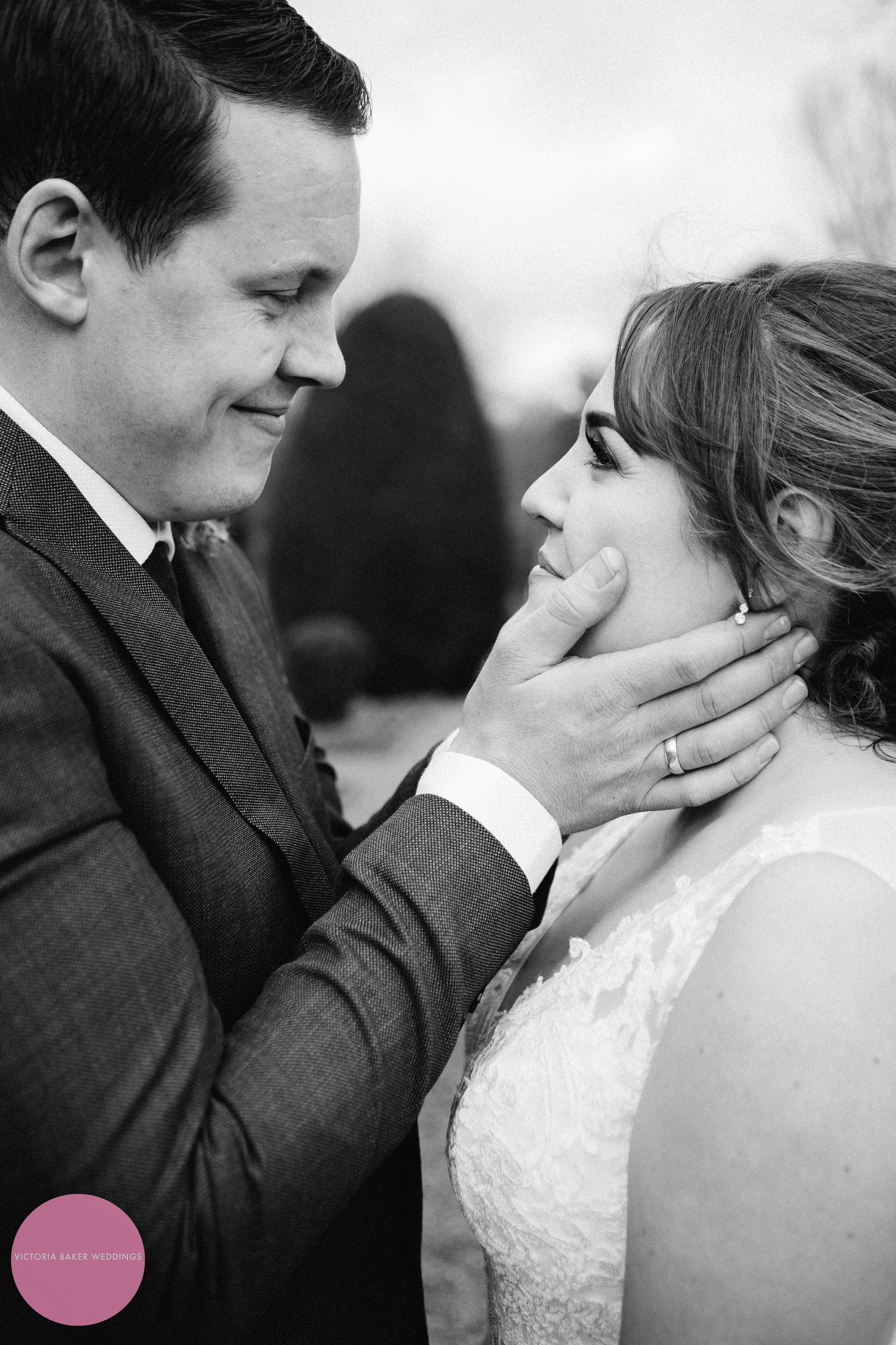 Bride and Groom Black and White Photography Leeds