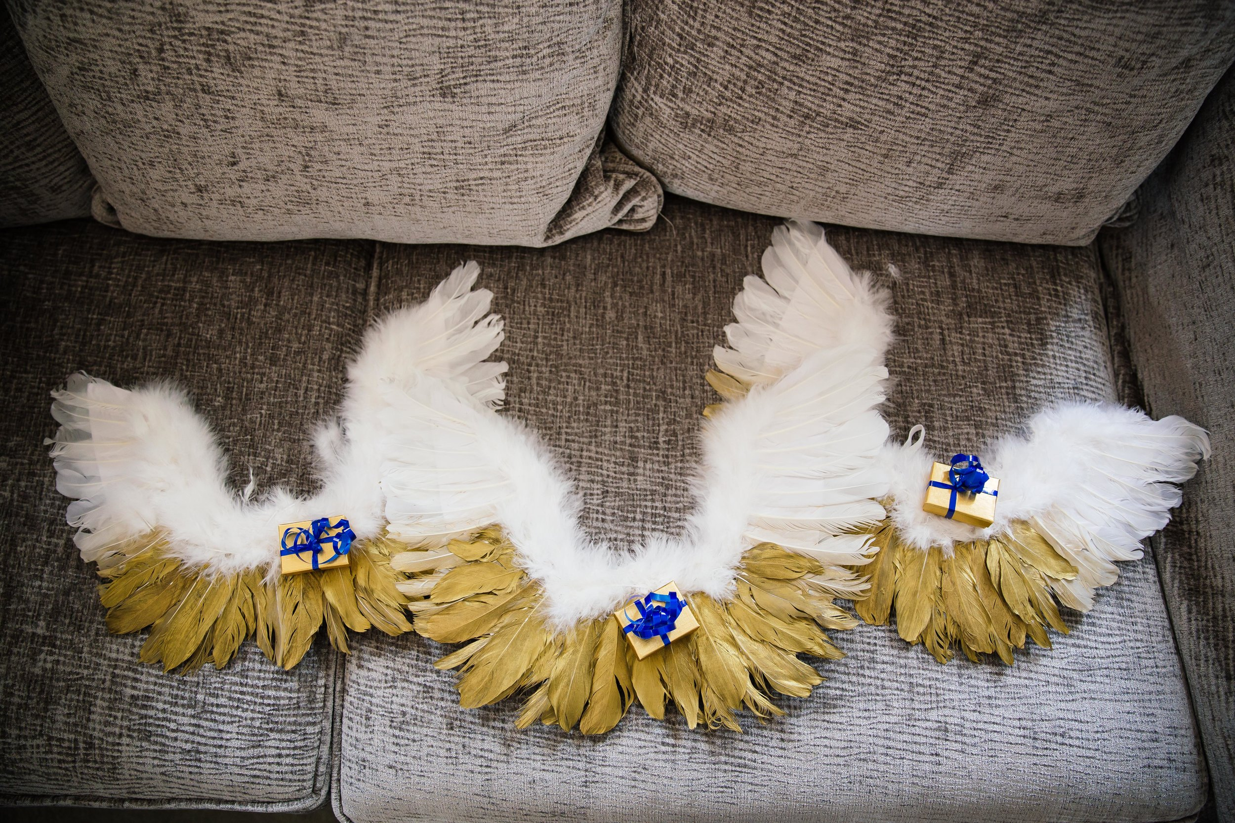 Angel wings for flower girls