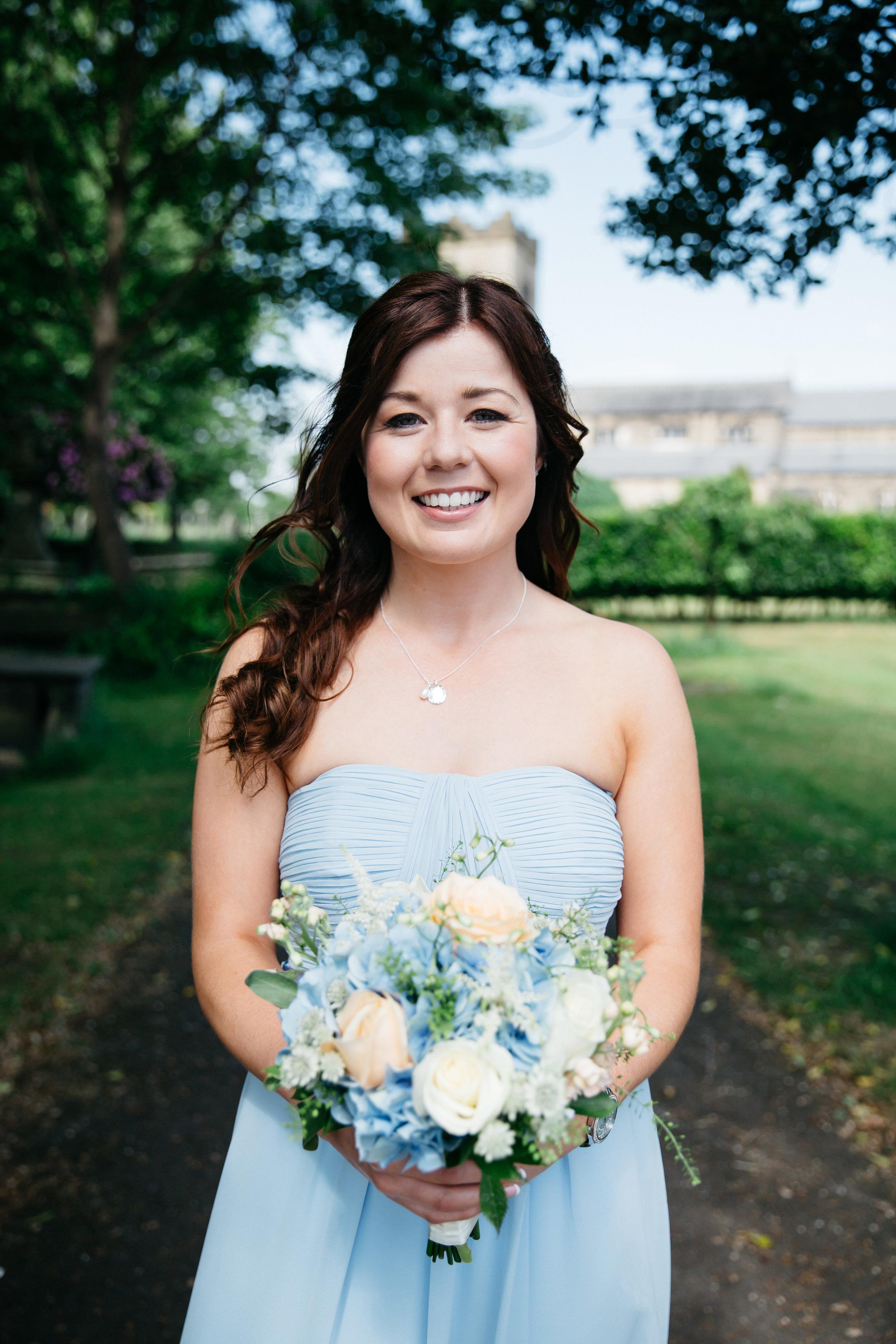 Bridesmaid at church Leeds