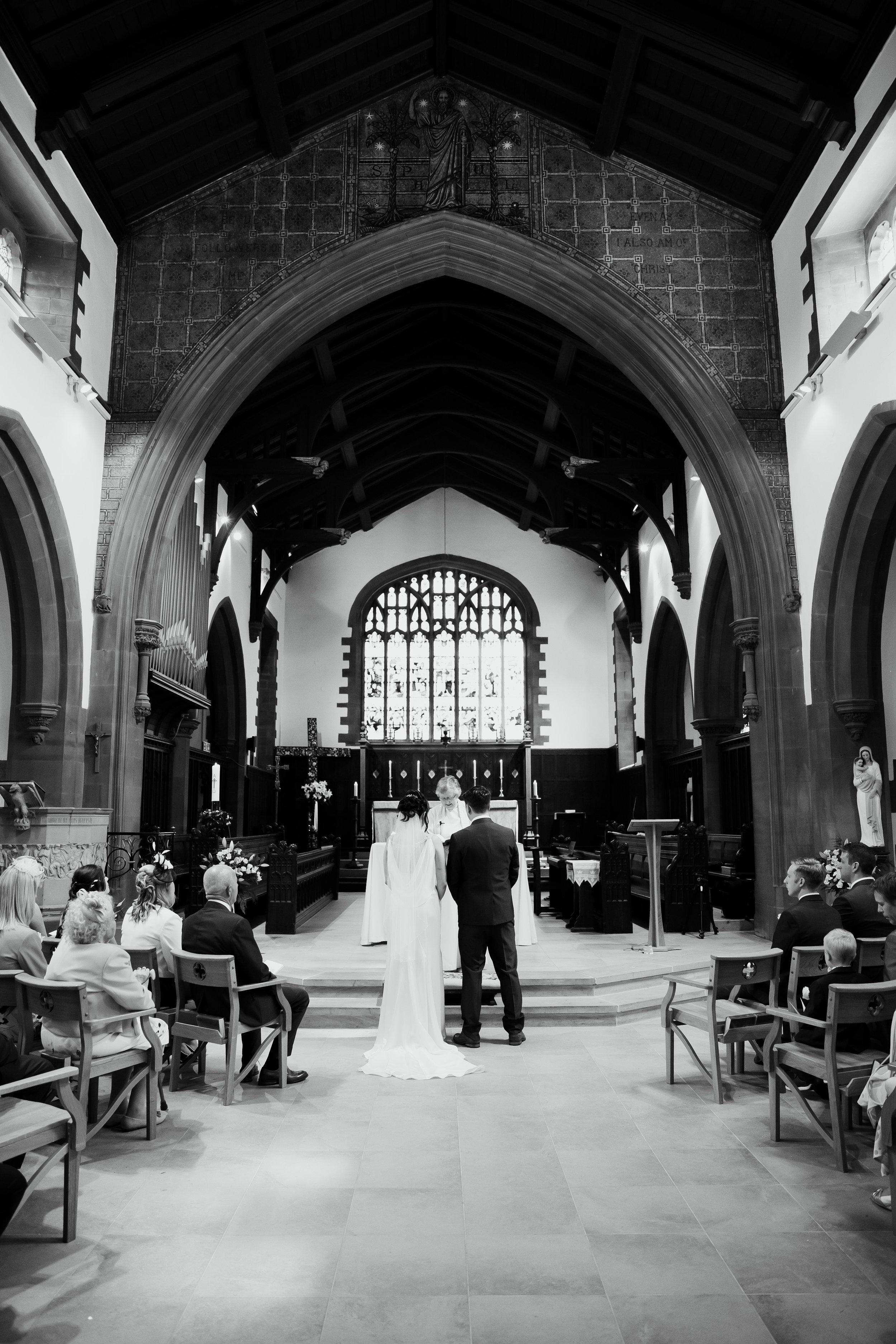 Wedding Ceremony in church in Leeds