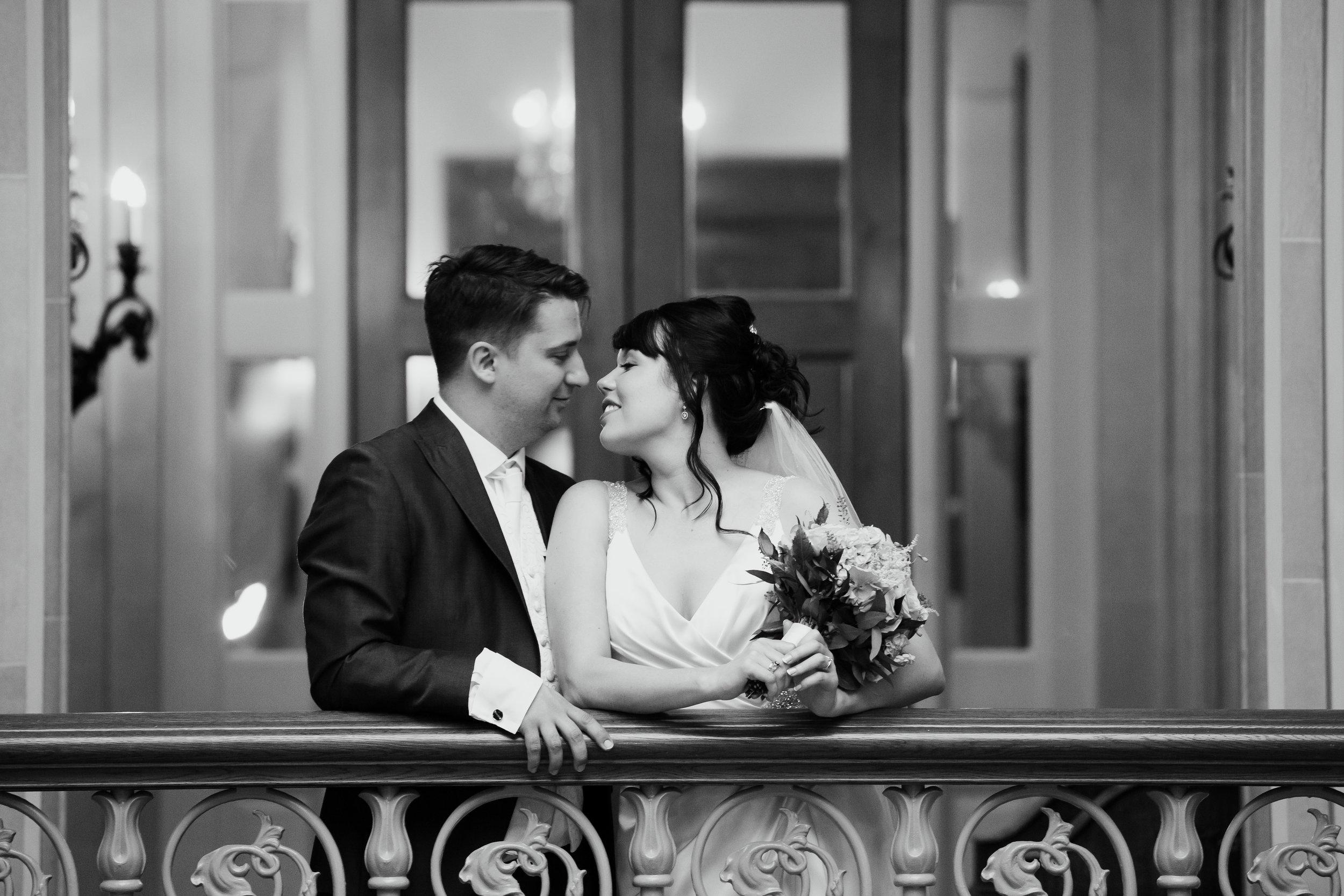 Bride and Groom at Oulton Hall Leeds Wedding Photographer Leeds