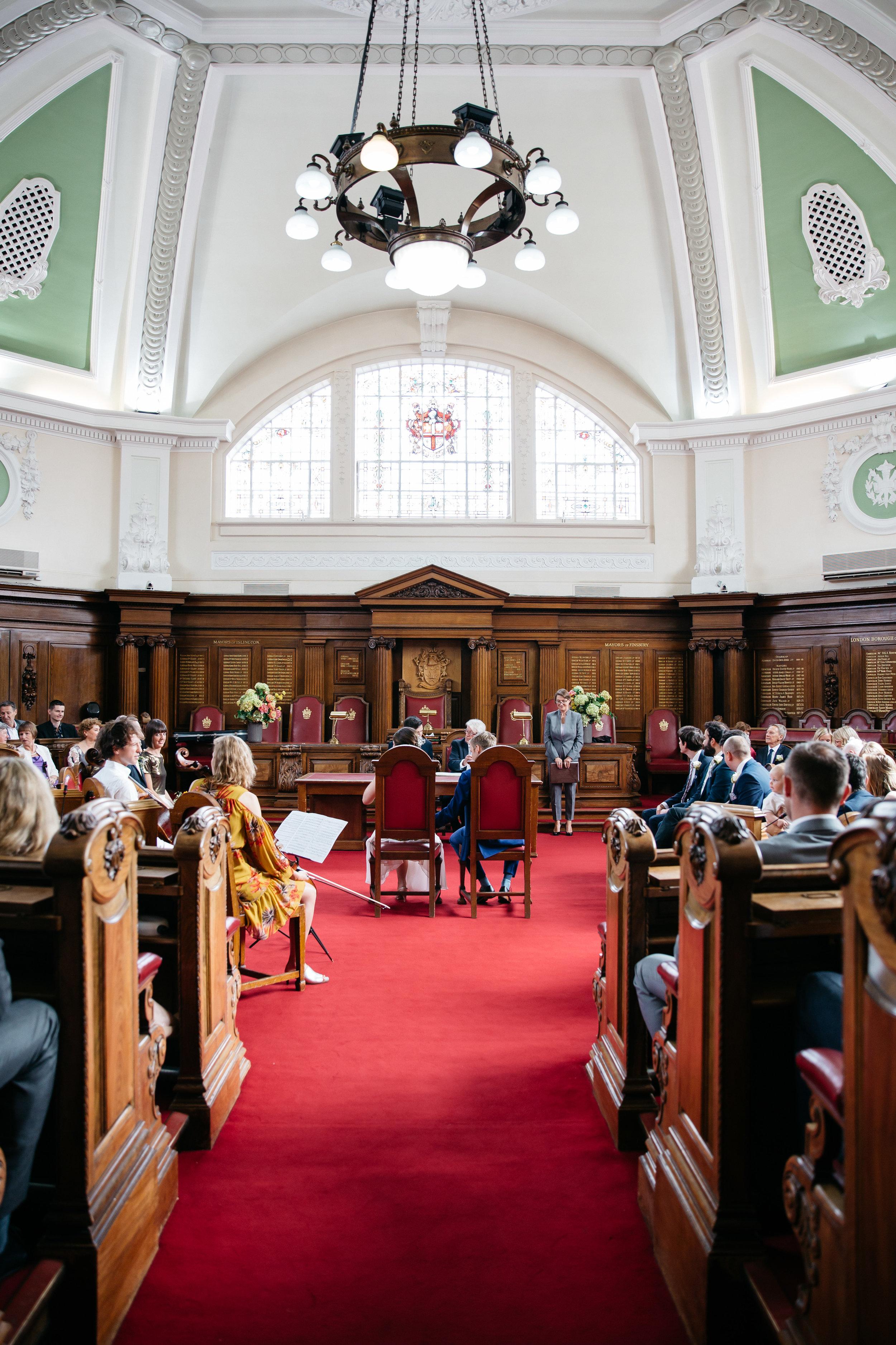 Islington Town Hall London Wedding Photographer