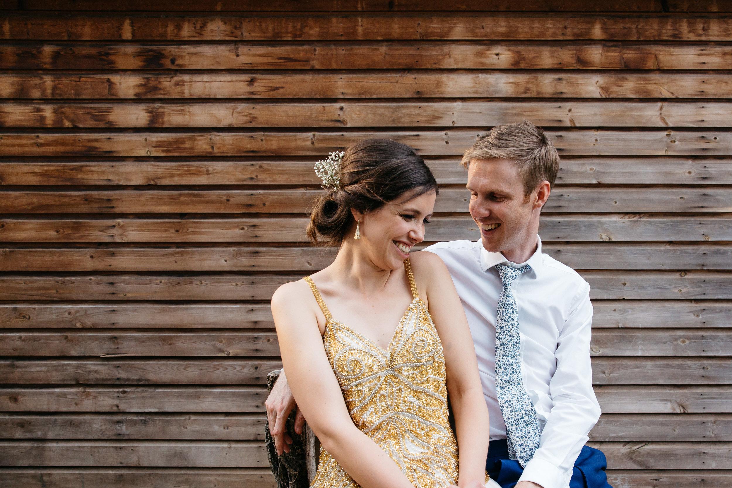 Bride & Groom London Wedding Wooden background
