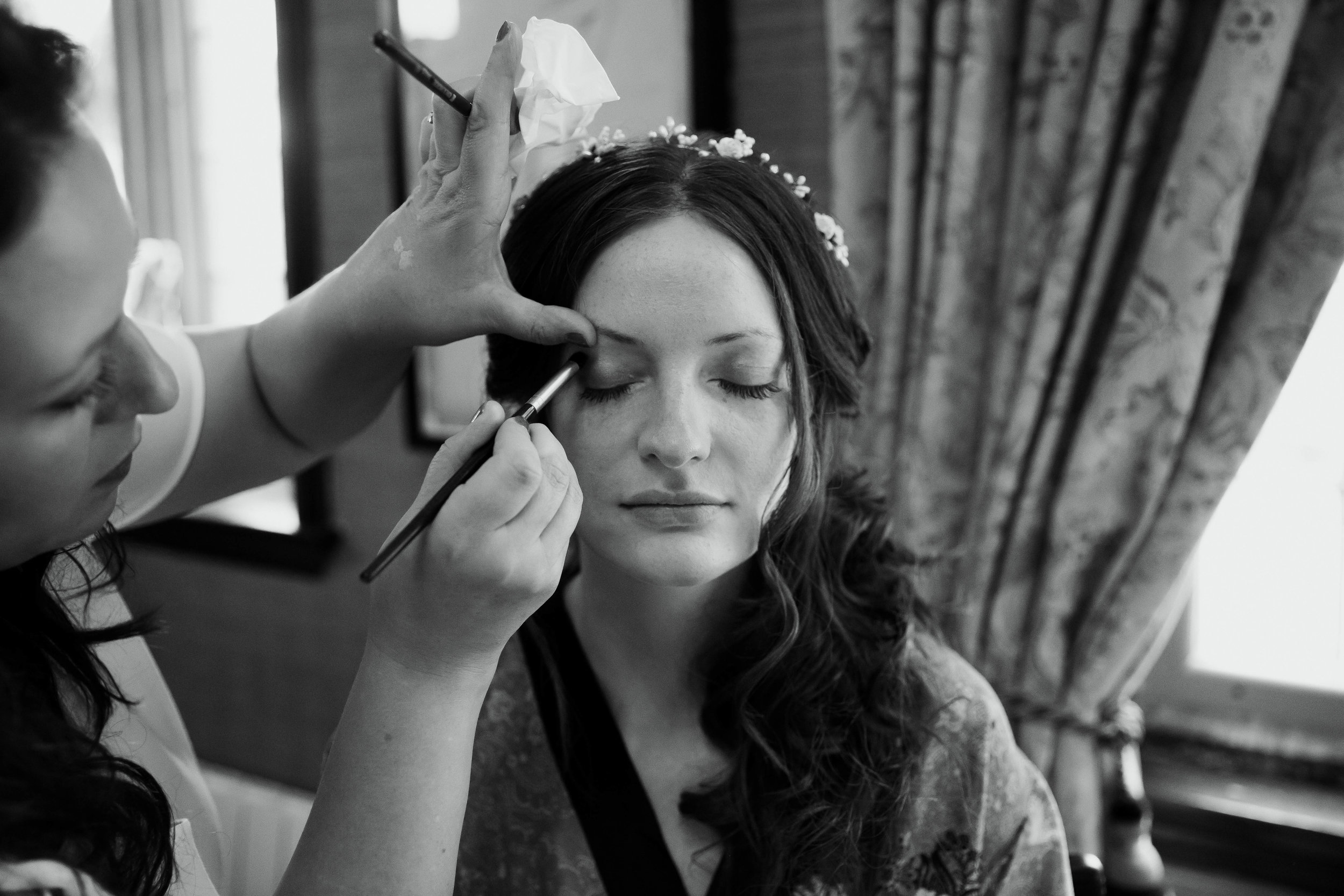 Wedding Make up by Victoria Edwards at Falcon Manor Wedding Photography Yorkshire