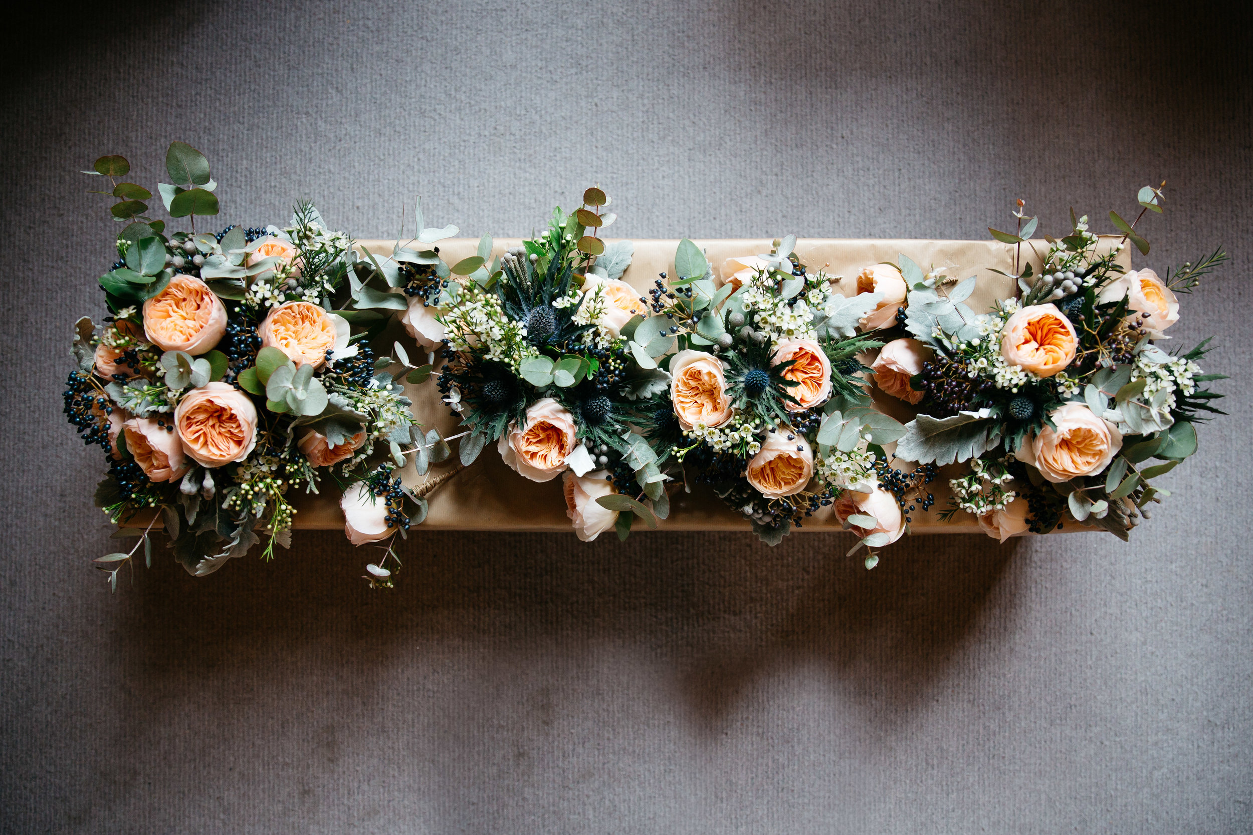 Wedding Bouquets at Falcon Manor Wedding Photography Yorkshire