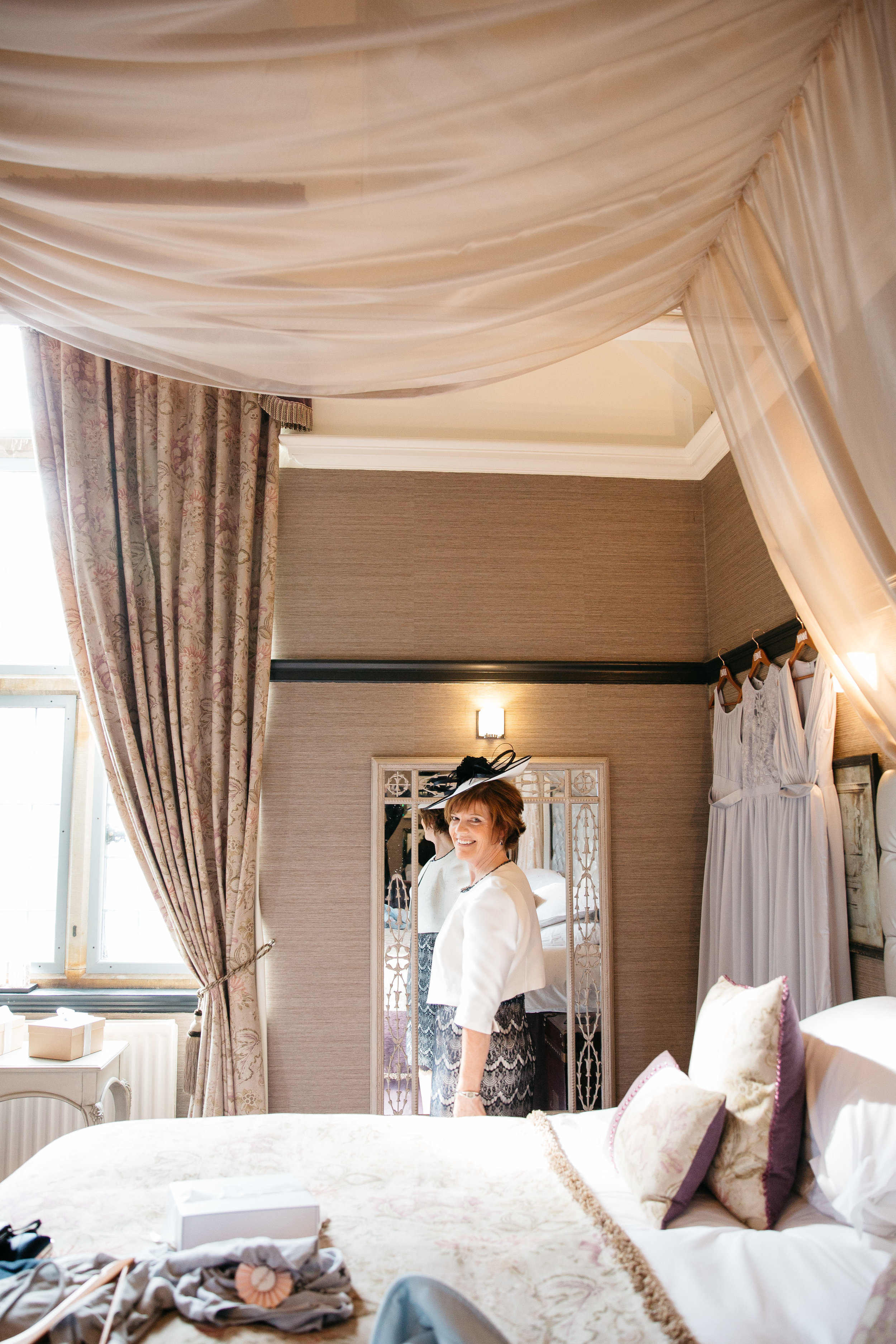 Mother of the Bride getting ready at Falcon Manor Wedding Photography Yorkshire