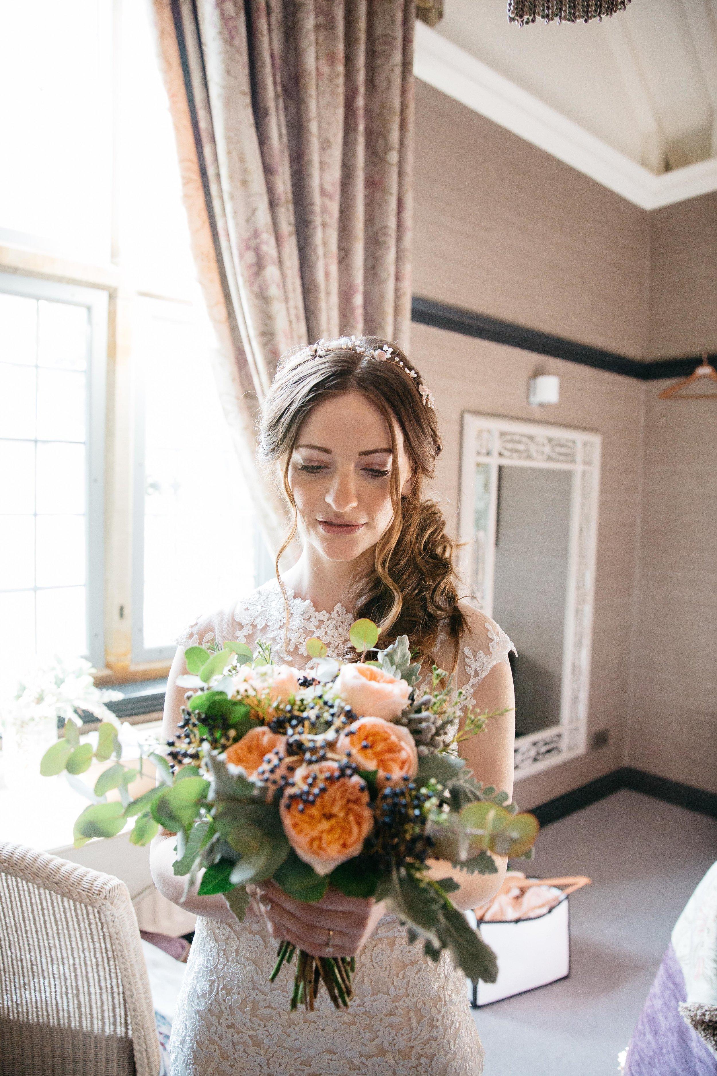 Bride looking amazing at Falcon Manor Wedding Photography Yorkshire
