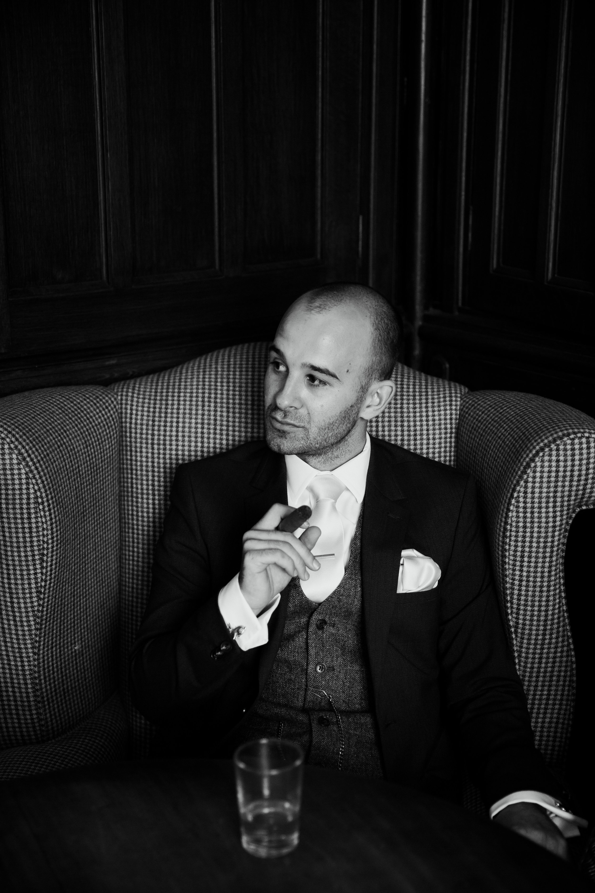 Nervous Groom before wedding Wedding Photographer Yorkshire