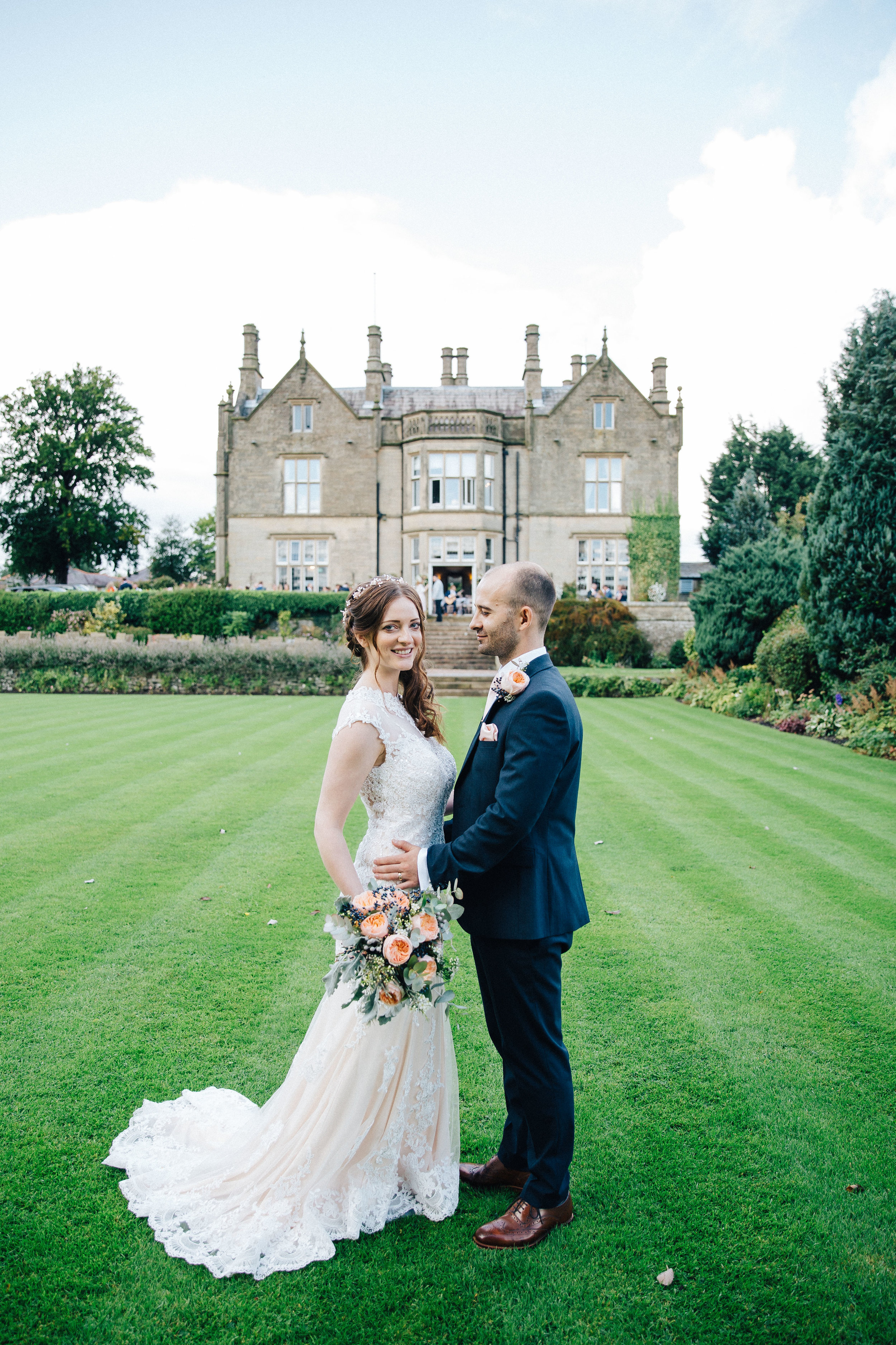 Bride and Groom at Falcon Manor Wedding Photographer Yorkshire
