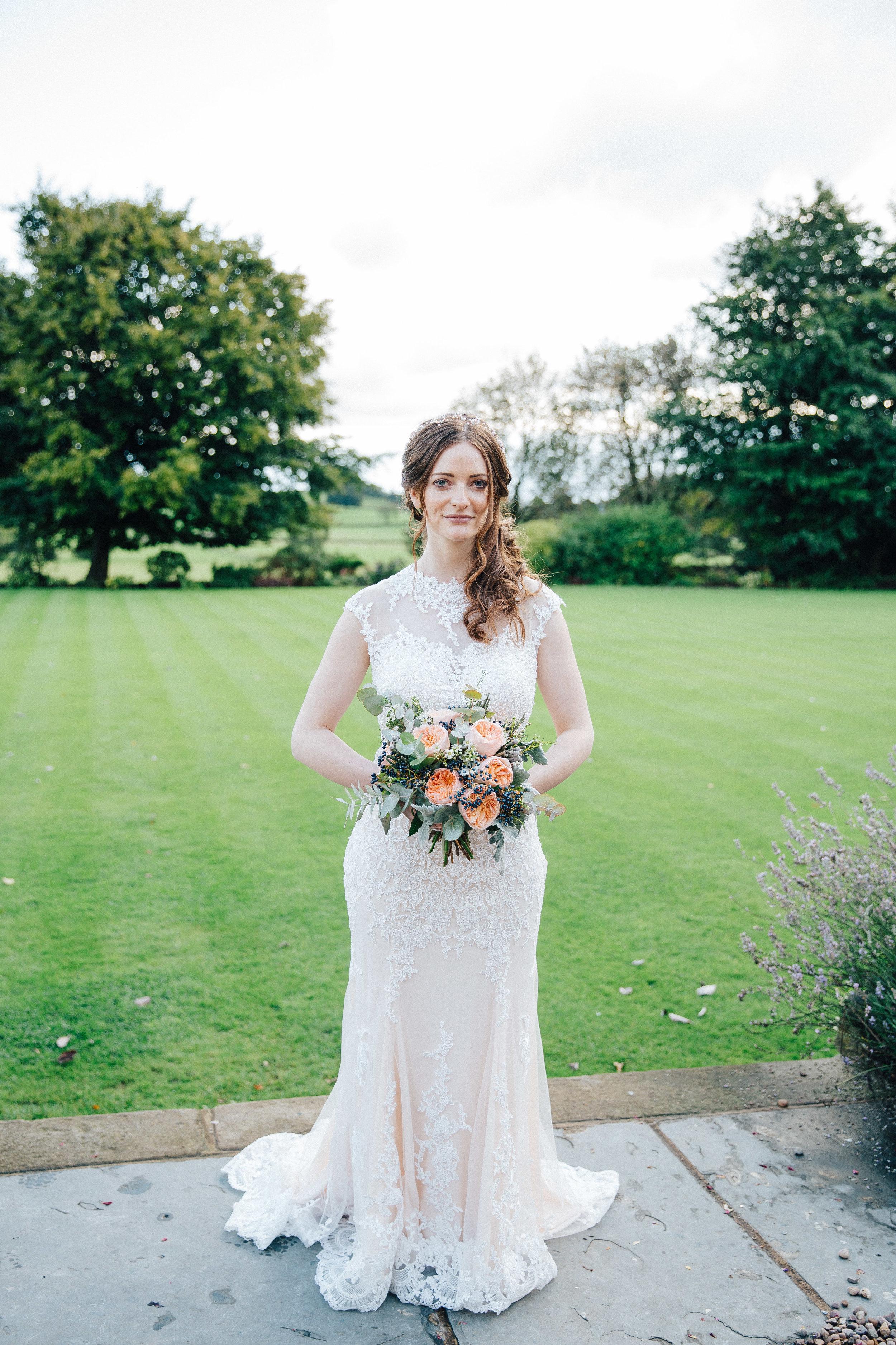 Bride at Falcon Manor Wedding Photographer Yorkshire