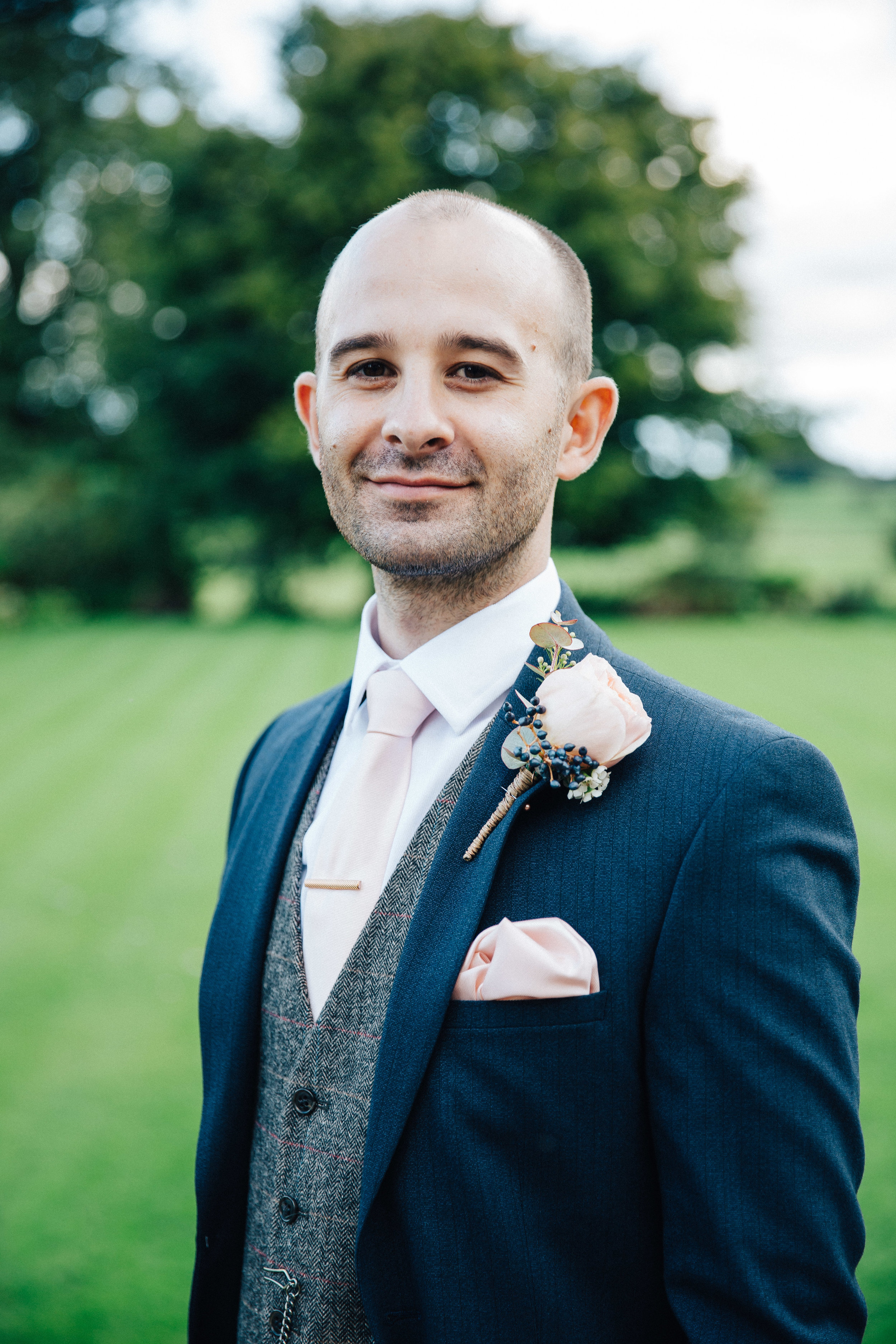 Groom Oliver at Falcon Manor Wedding Photographer Yorkshire