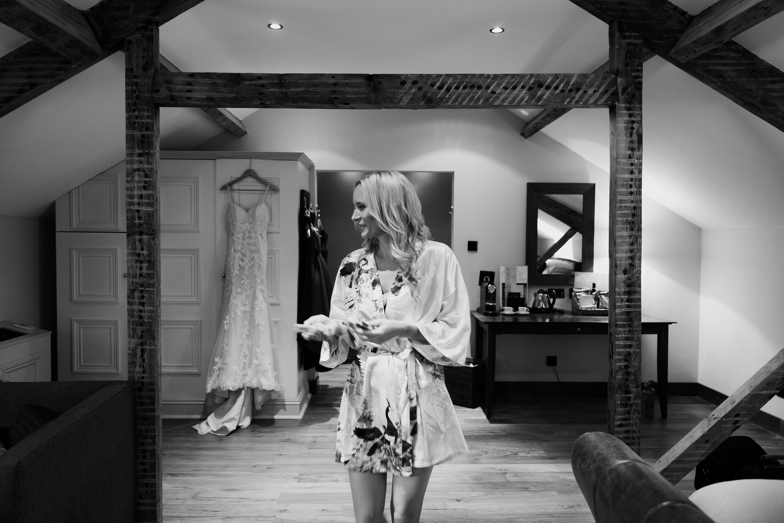 Bride getting ready at Hotel Du Vin Harrogate