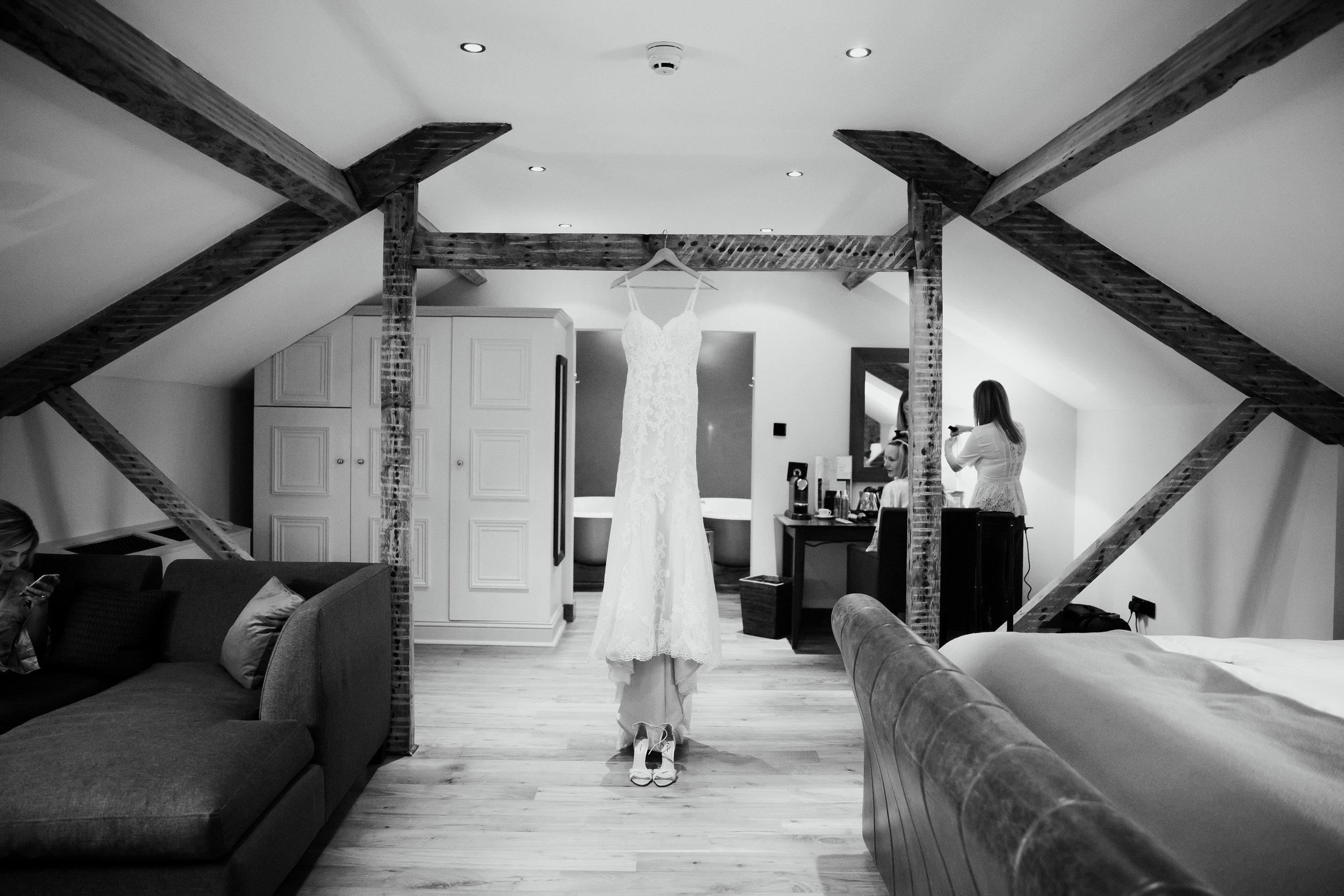 WEDDING DRESS AT HOTEL DU VIN HARROGATE