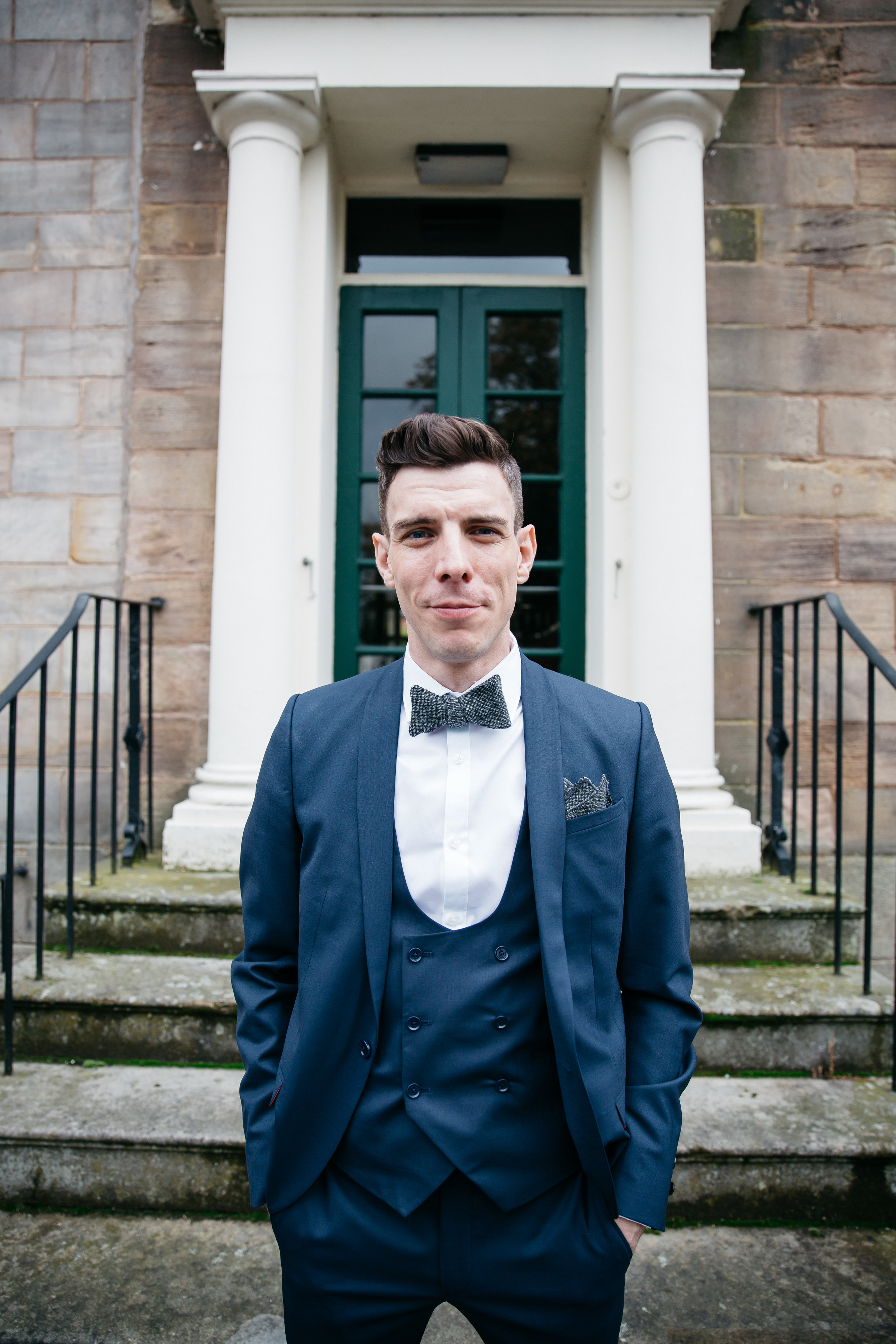 Dapper groom at Hotel Du Vin Harrogate