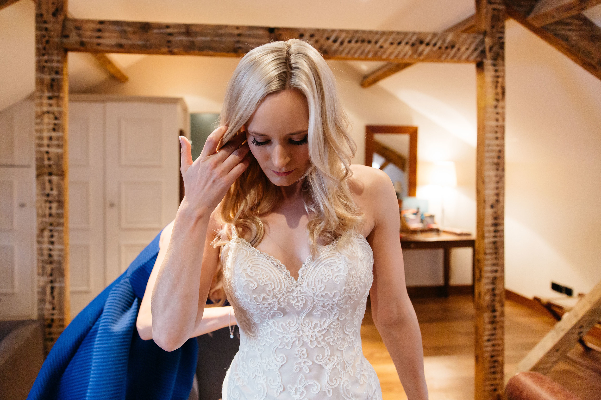 Bride in her wedding dress at Hotel DU Vin Harrogate