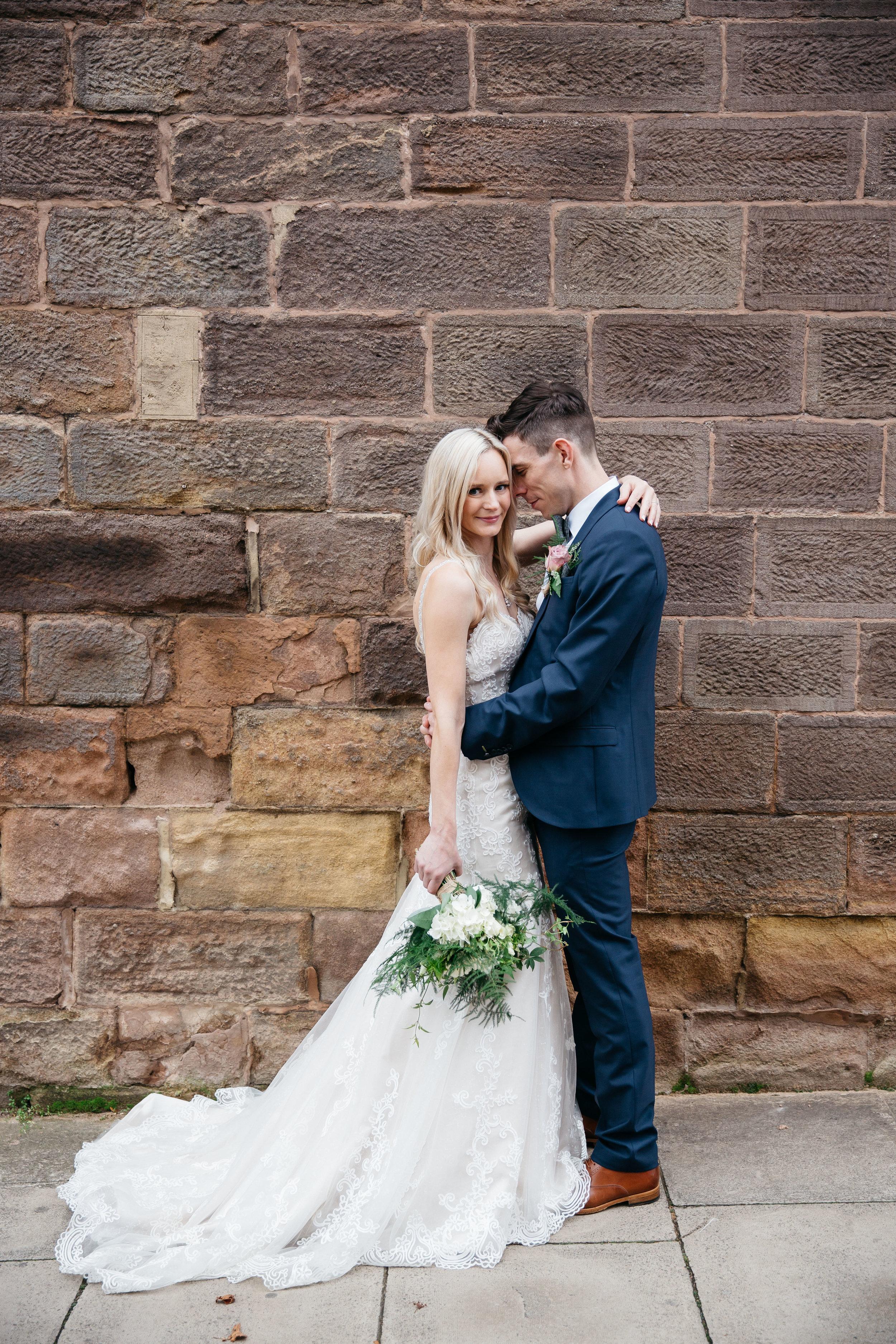 Bride and Groom at Hotel Du Vin Harrogate