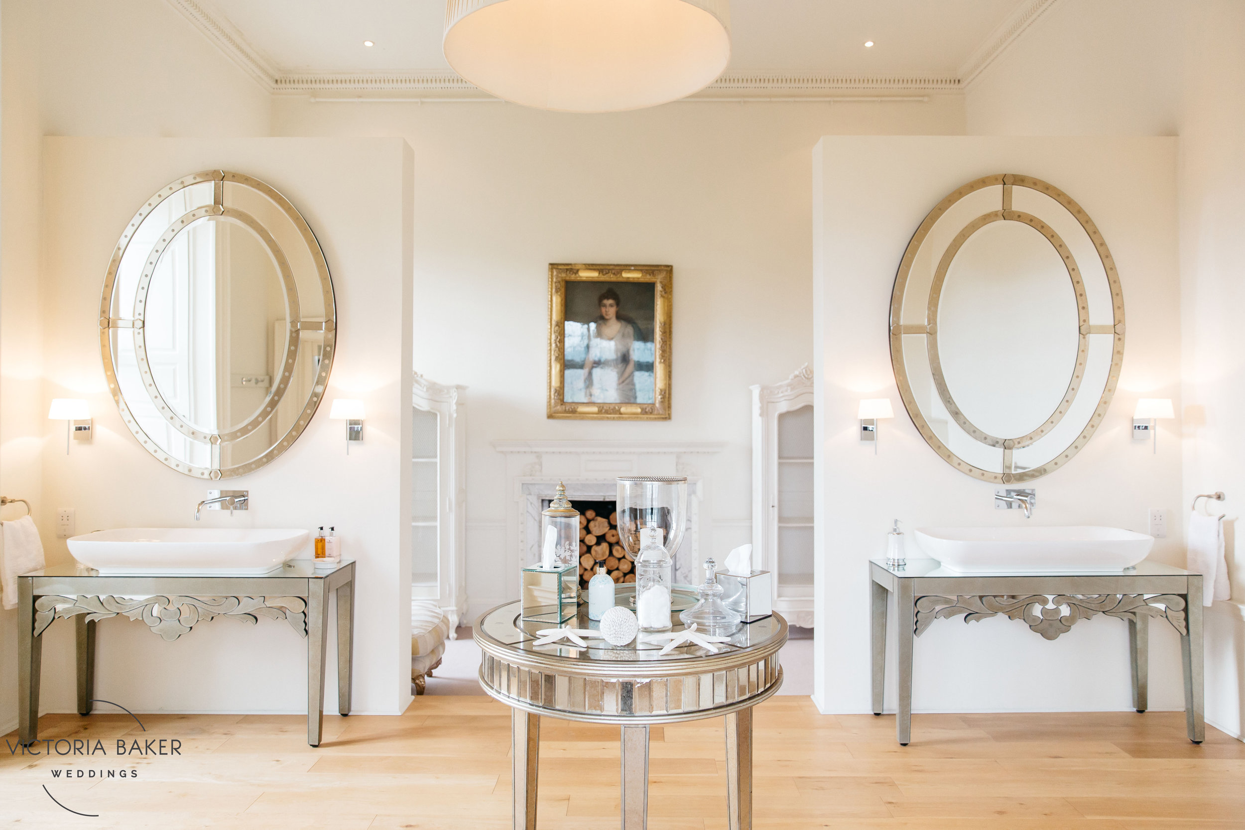 Bridal bathroom at Howsham Hall North Yorkshire