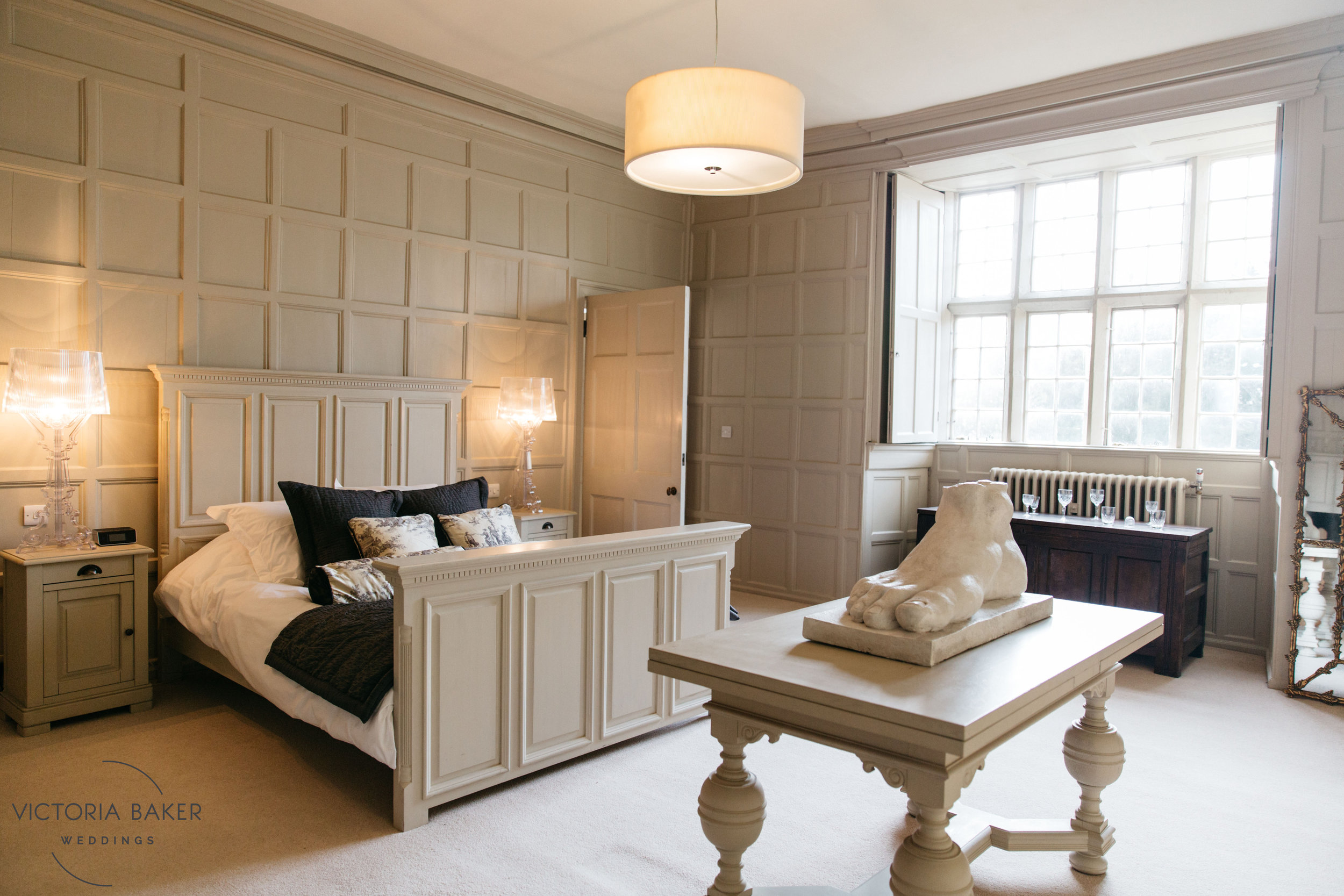 Quirky bedroom design at Howsham Hall North Yorkshire