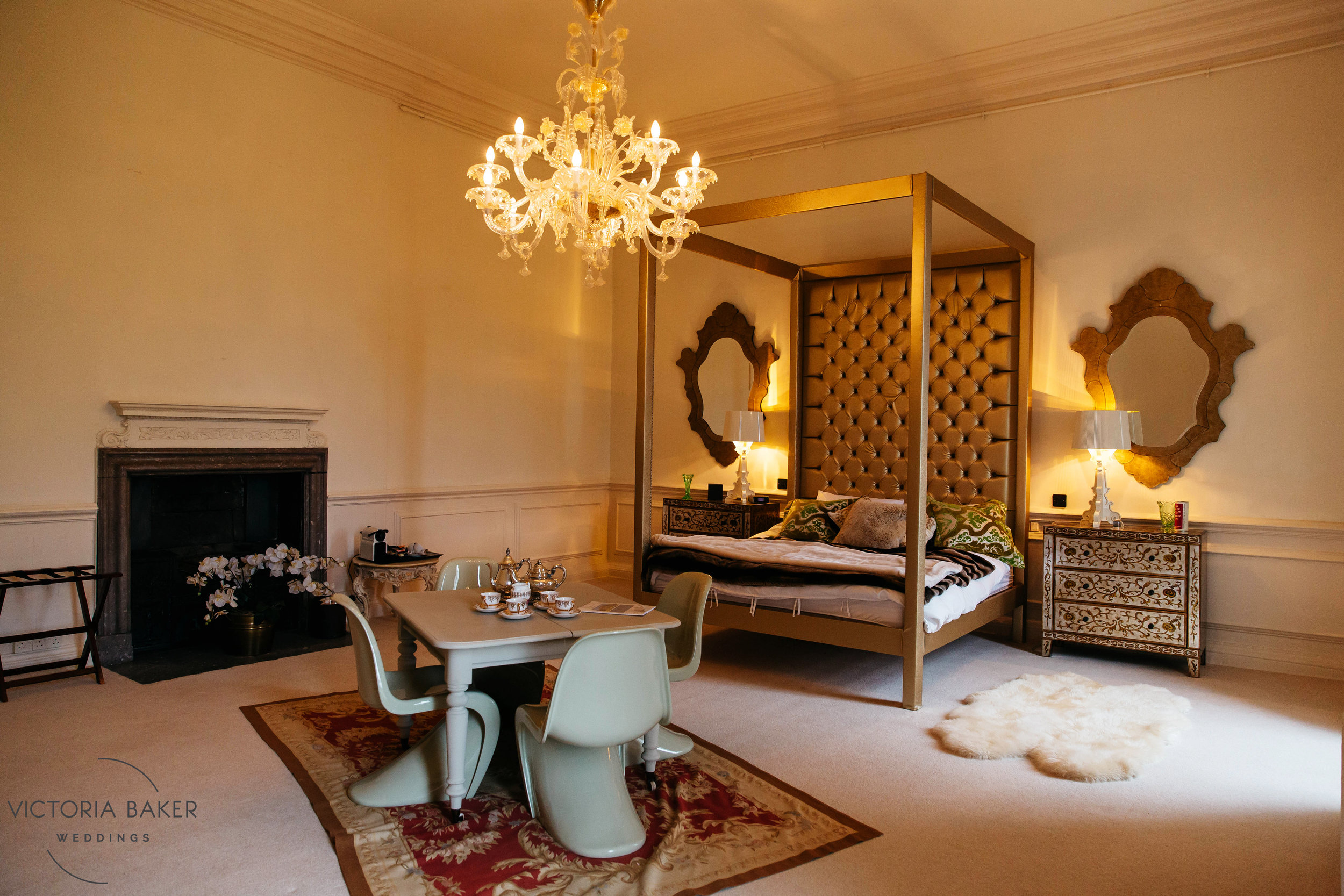 Bedroom design at Howsham Hall North Yorkshire