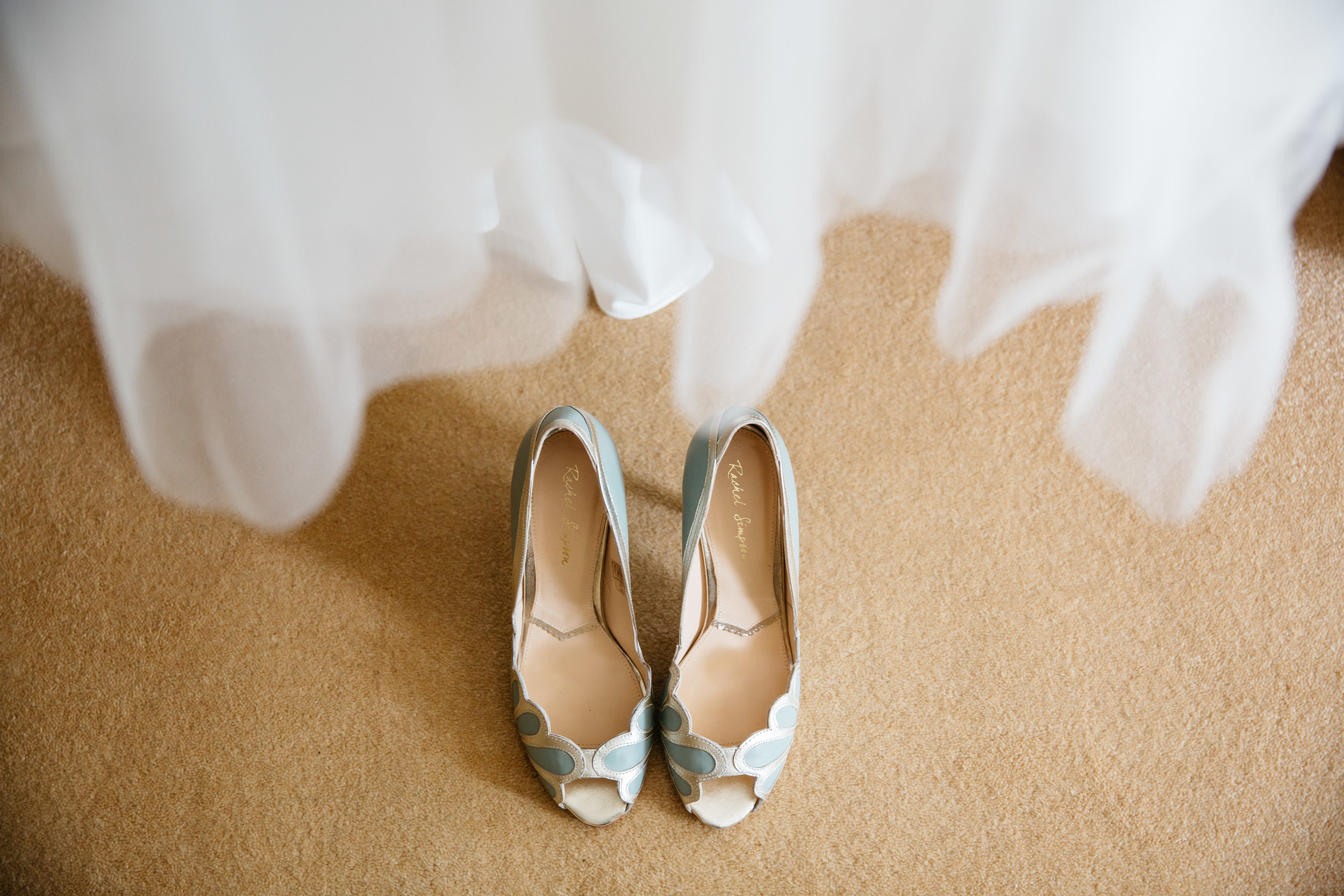 Rachel Simpson wedding shoes and dress