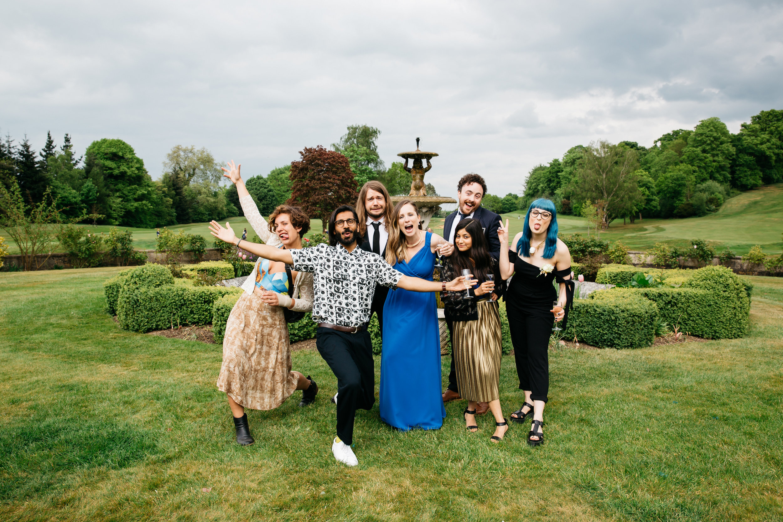 Friends at wedding
