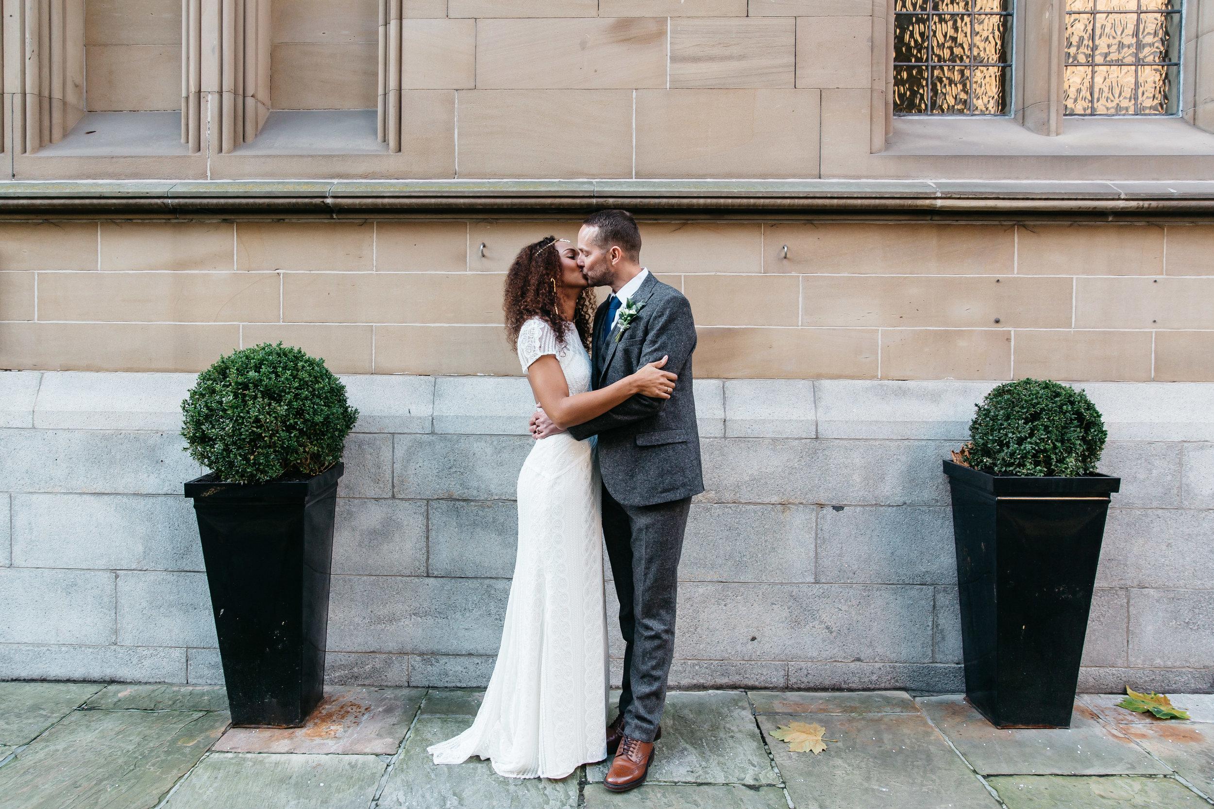 Bride and Groom at Aspire Leeds