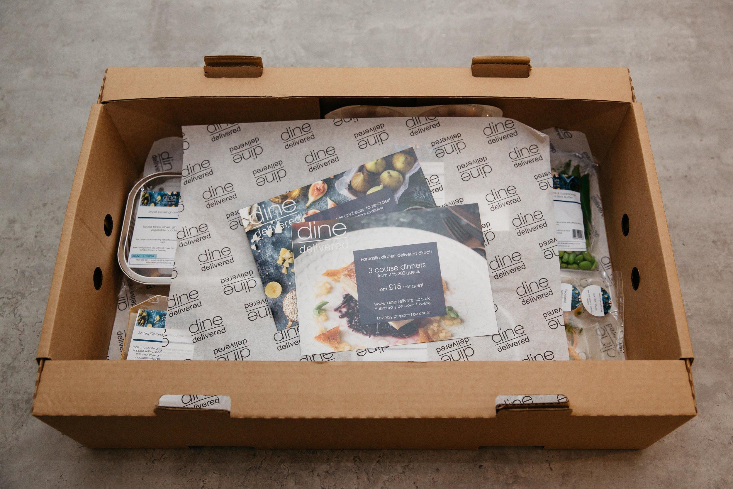 Dine Delivered box of food