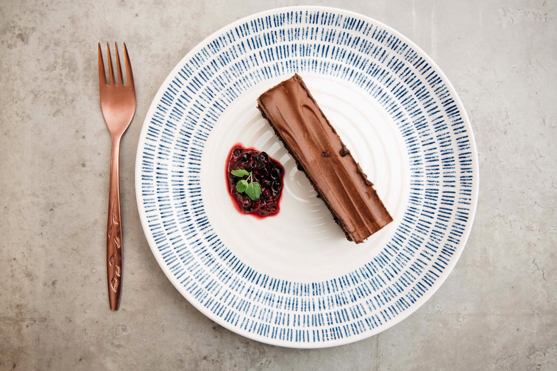 Dine Delivered chocolate dessert