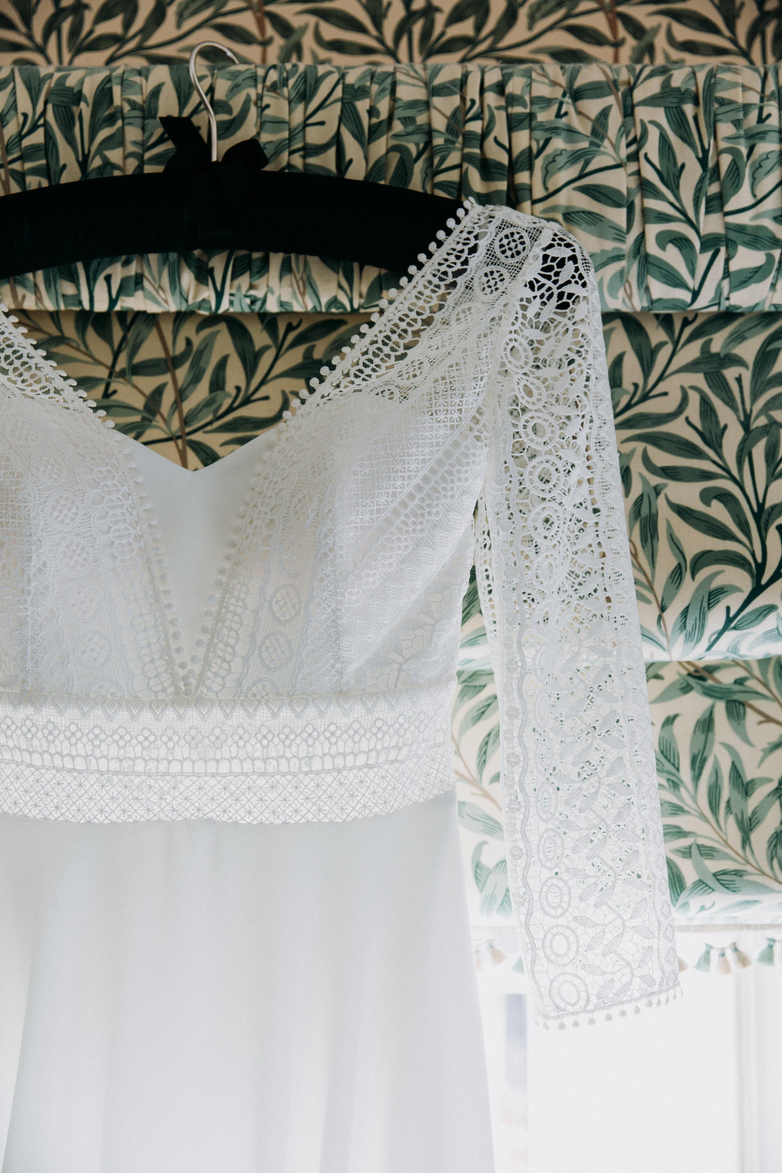 Wedding dress at The Chilterns wedding