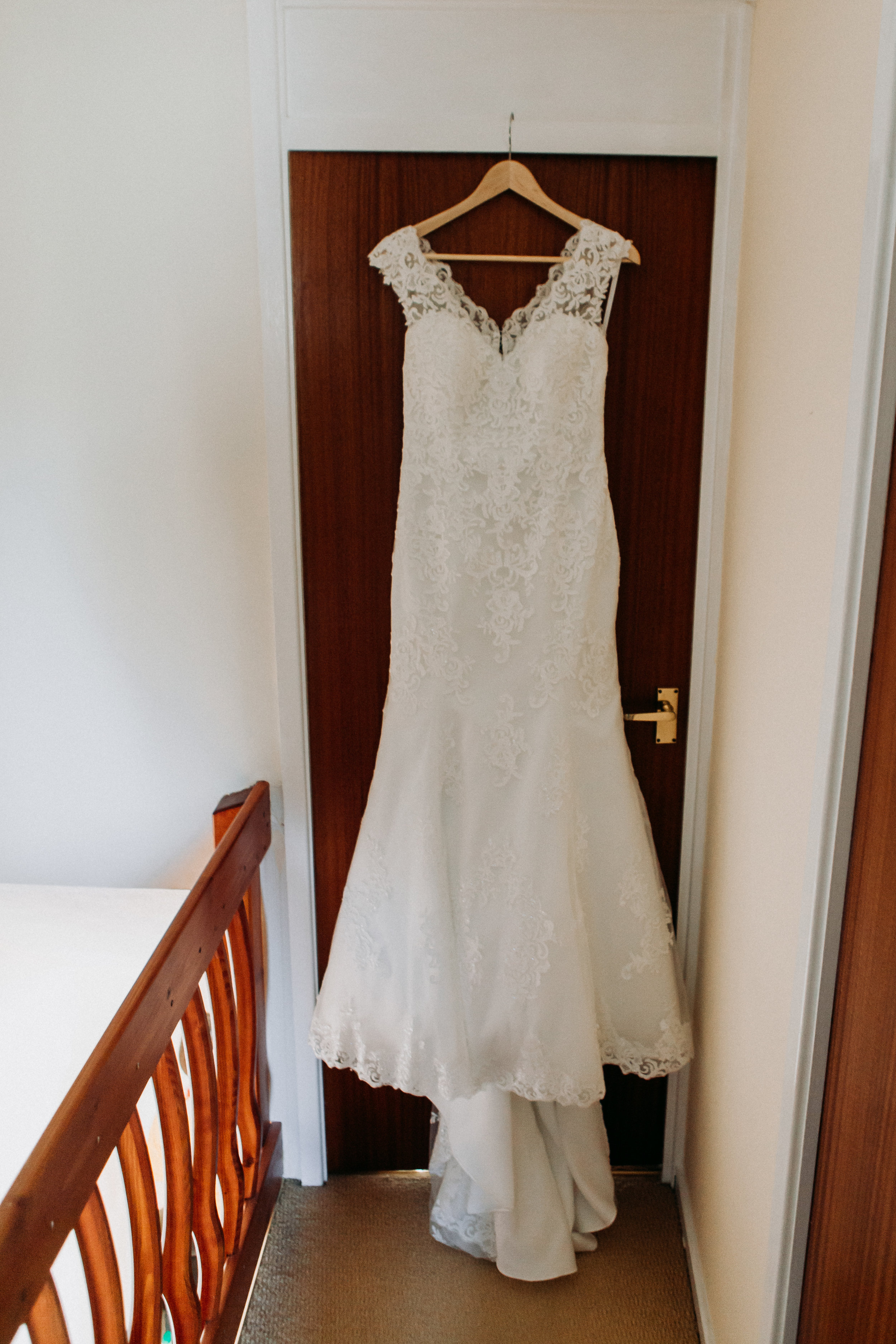 Hannah's wedding dress at The Chilterns wedding