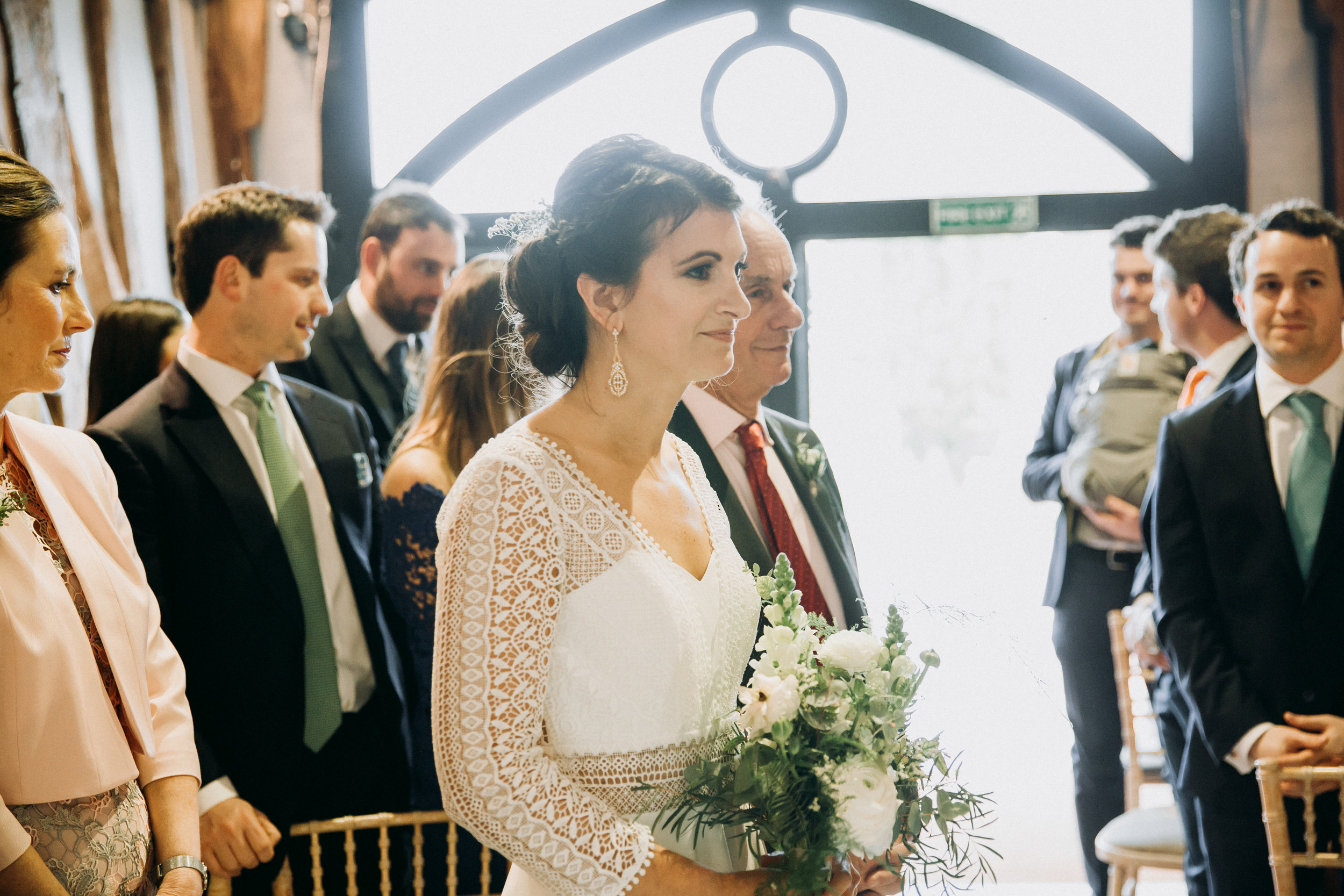 Vanessa waiting for her bride at Old Luxter's Barn at The Chilterns wedding