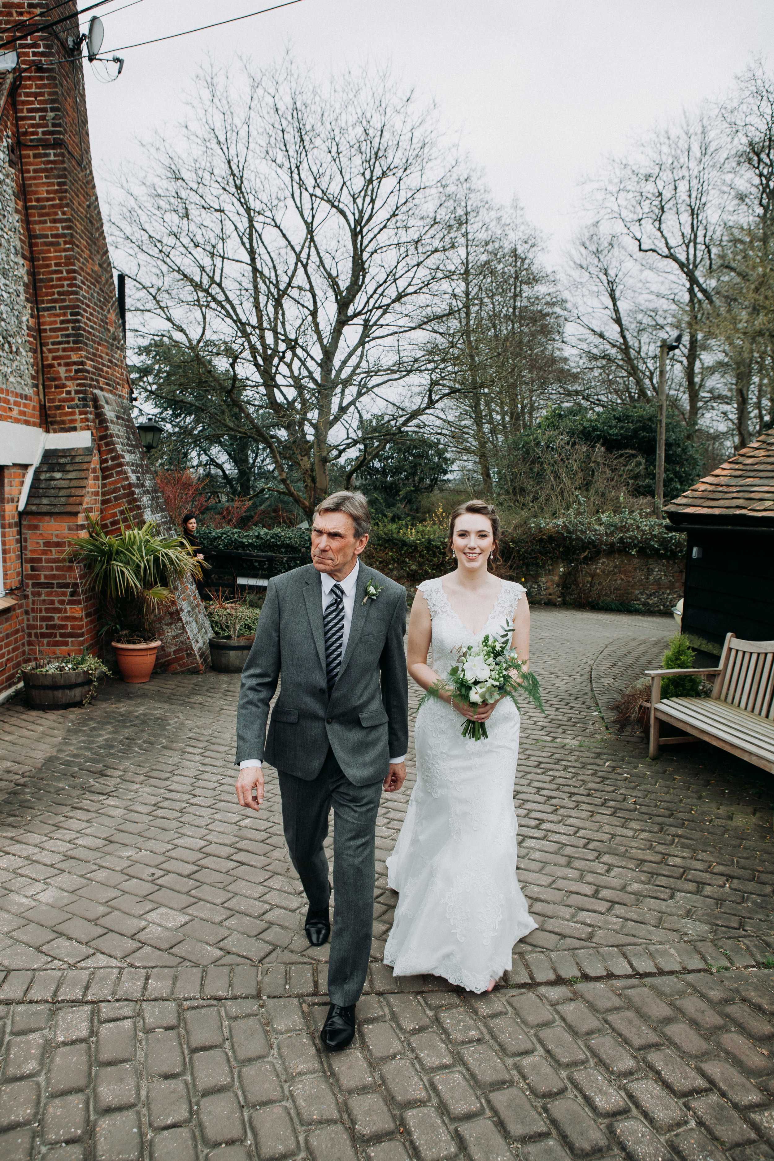 Beautiful bride Hannah at Old Luxter's Barn at The Chilterns wedding