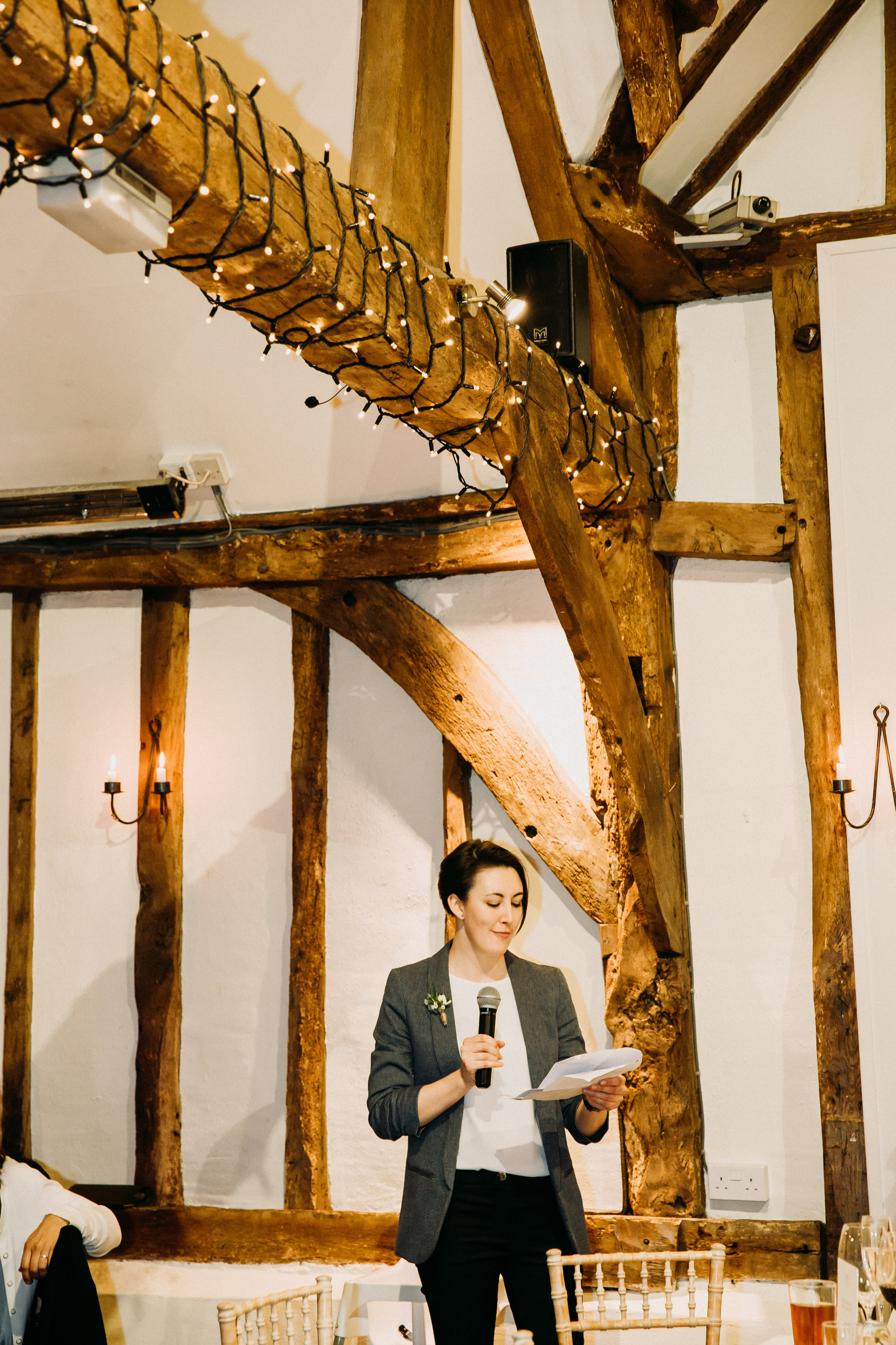 Speeches at Old Luxter's Barn in Chiltern Winery