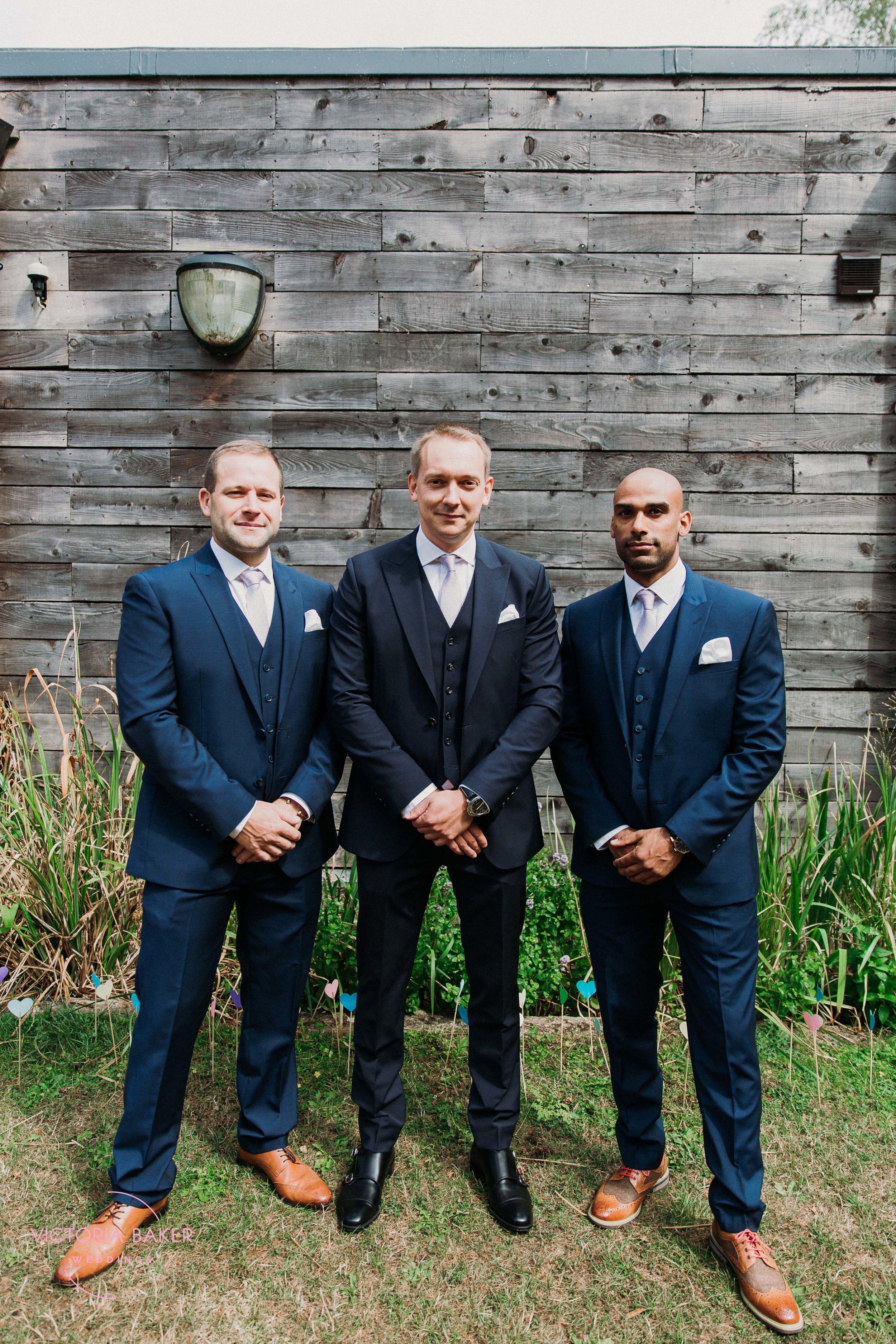 Groomsmen at Emily & Adam Woodland Sheffield Wedding
