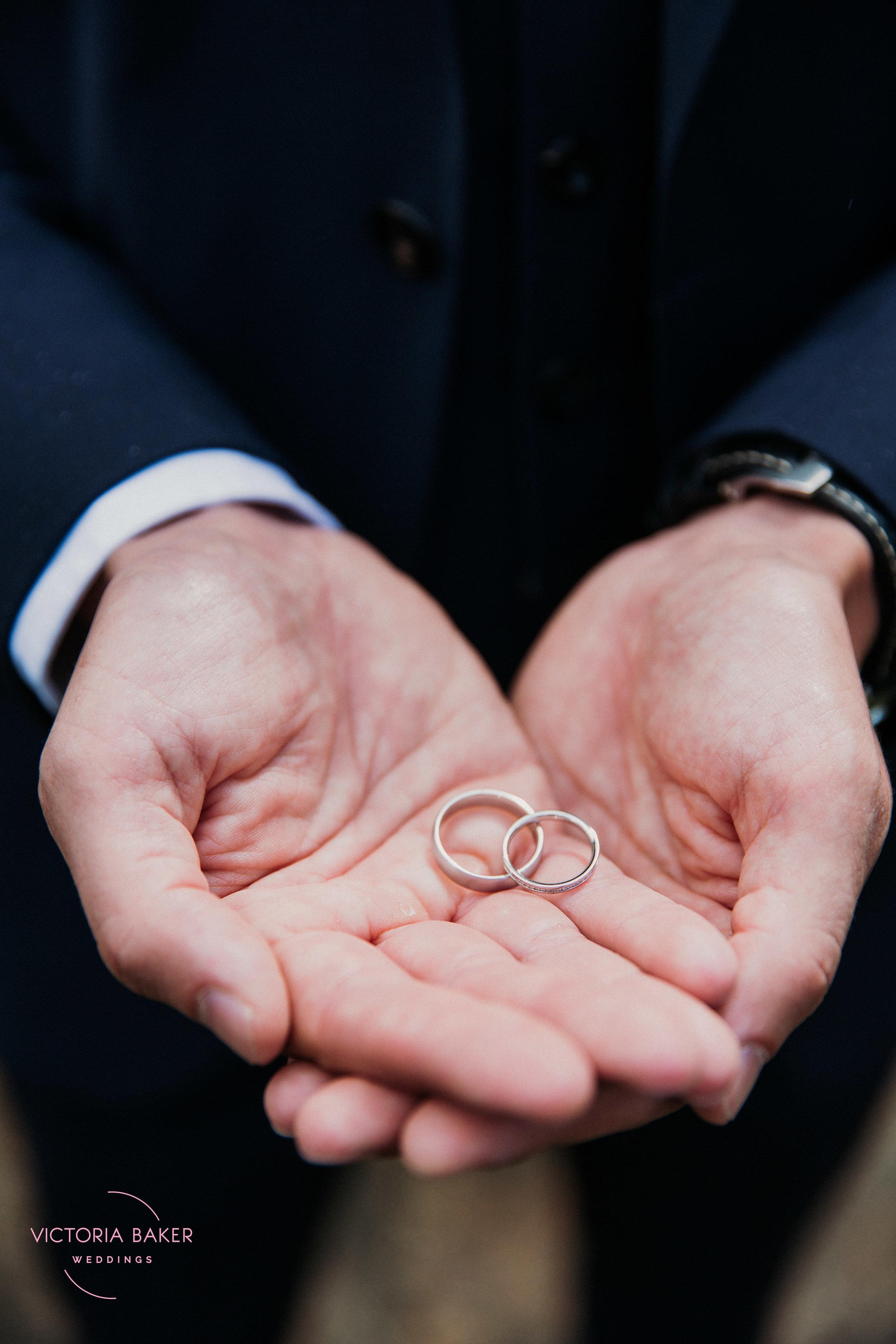Wedding Rings at Emily & Adam Woodland Sheffield Wedding