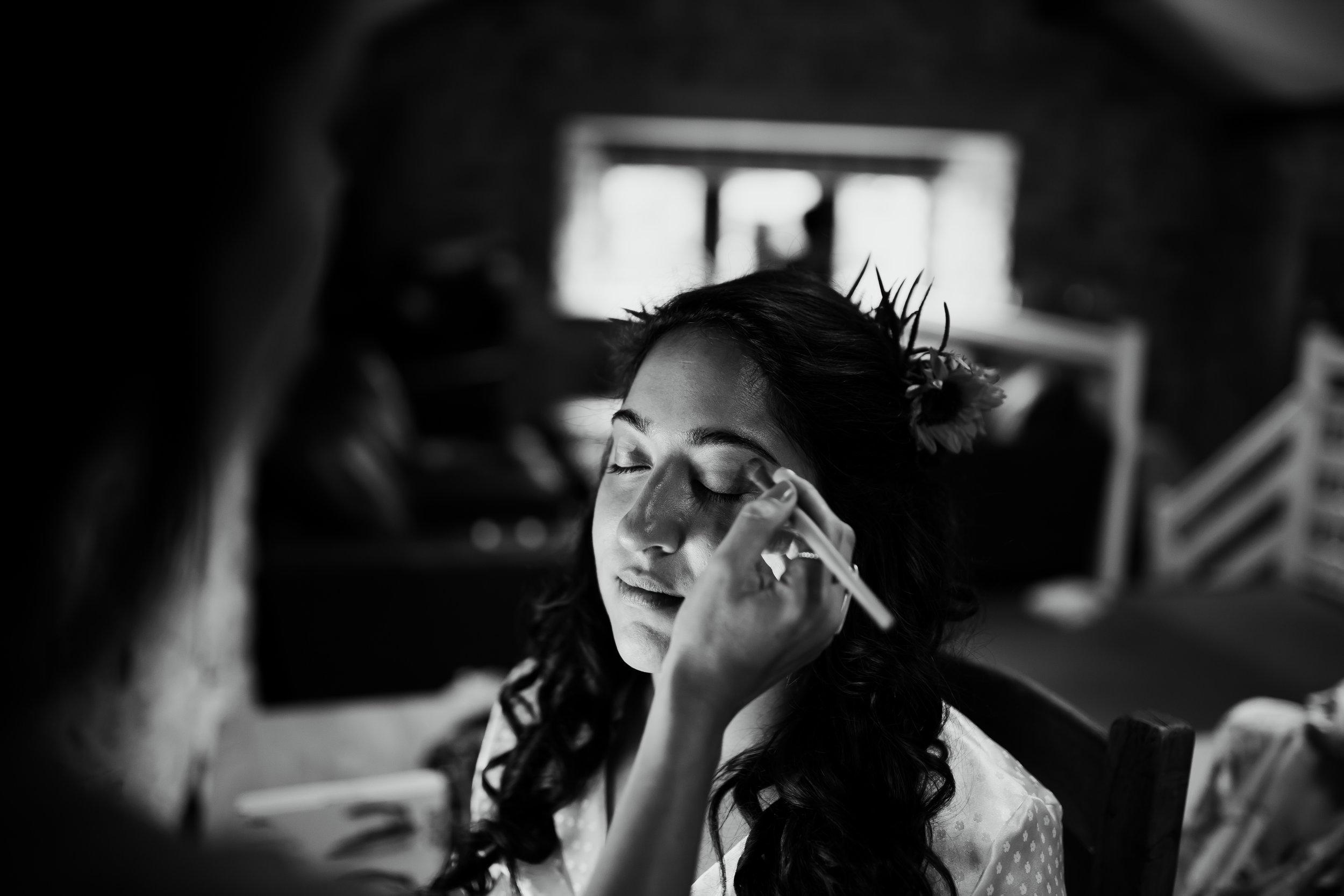 Bridal Make up at Kilnsey Park Estate Wedding Photography
