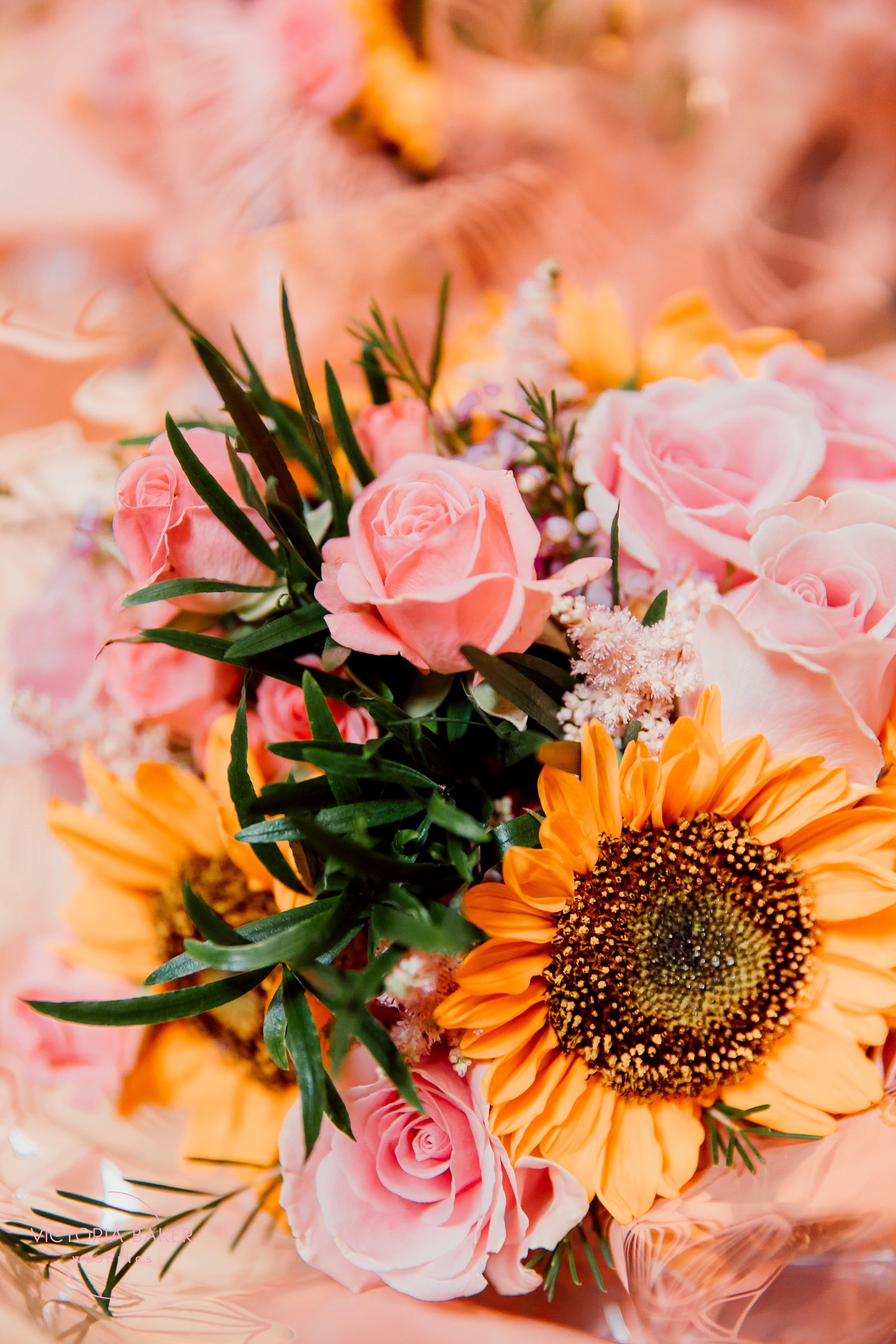 Handpicked flowers from Kilnsey Park Estate Wedding Photography