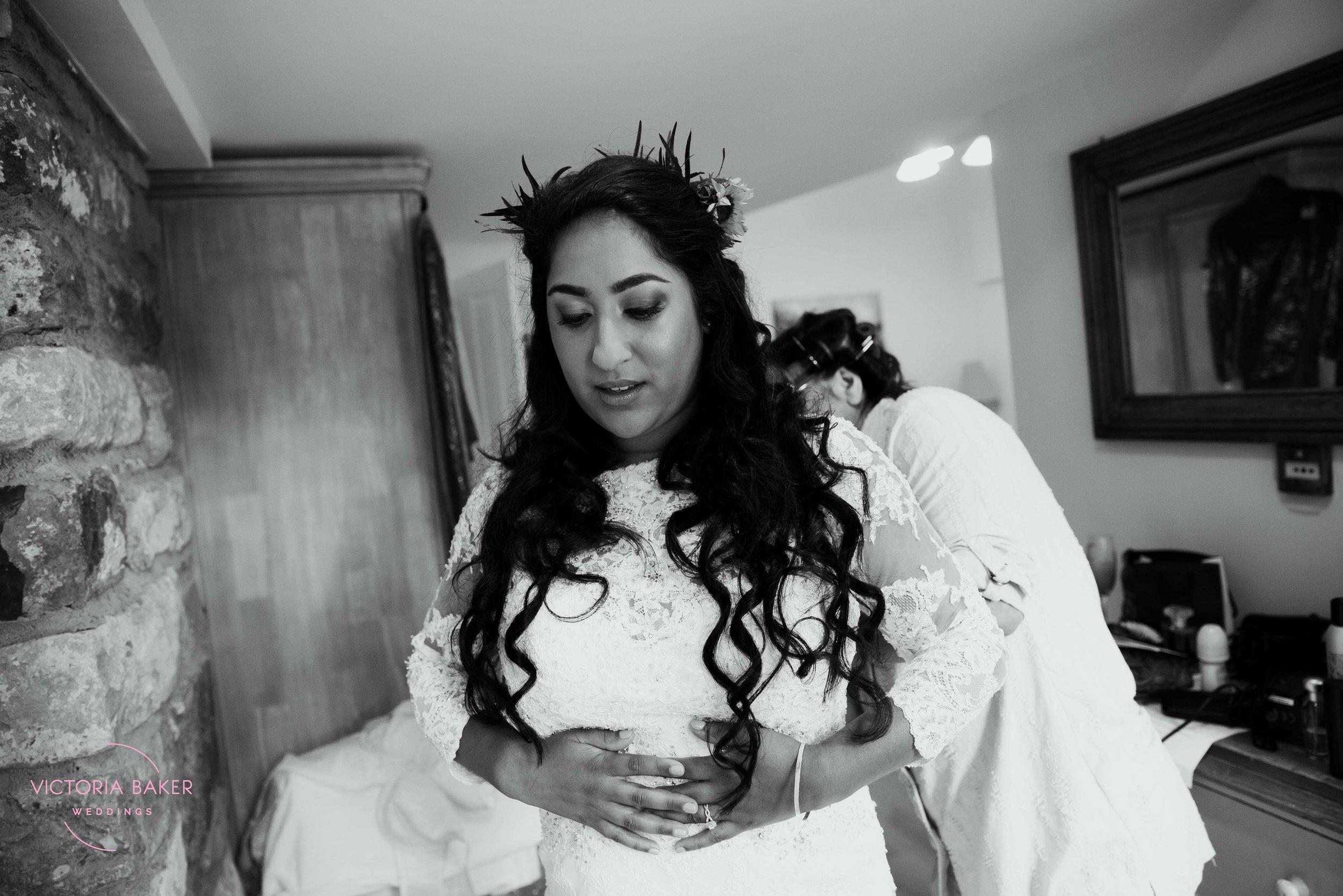 Bride getting ready at Kilnsey Park Estate Wedding Photography