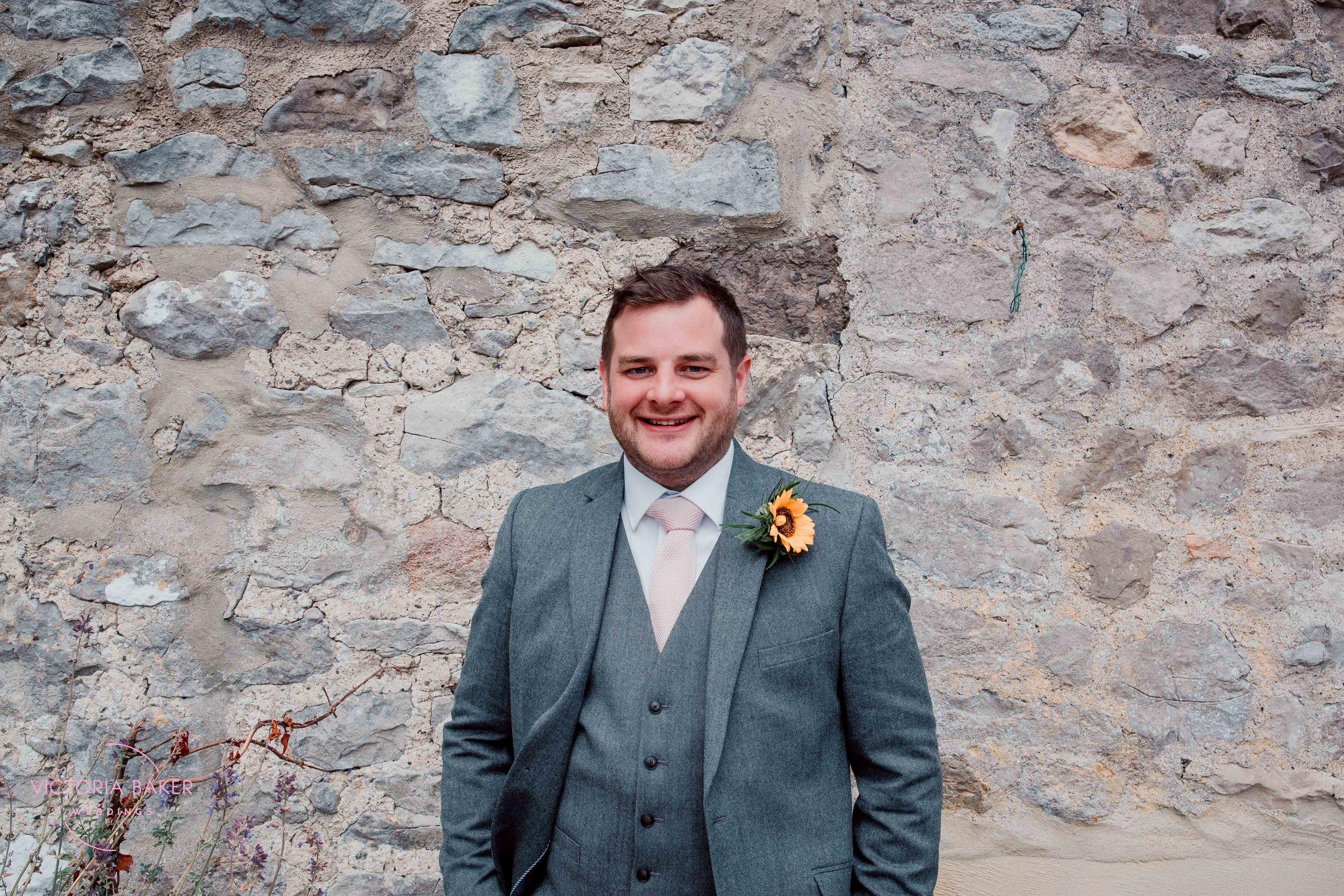 Nervous Groom at Kilnsey Park Estate Wedding Photography