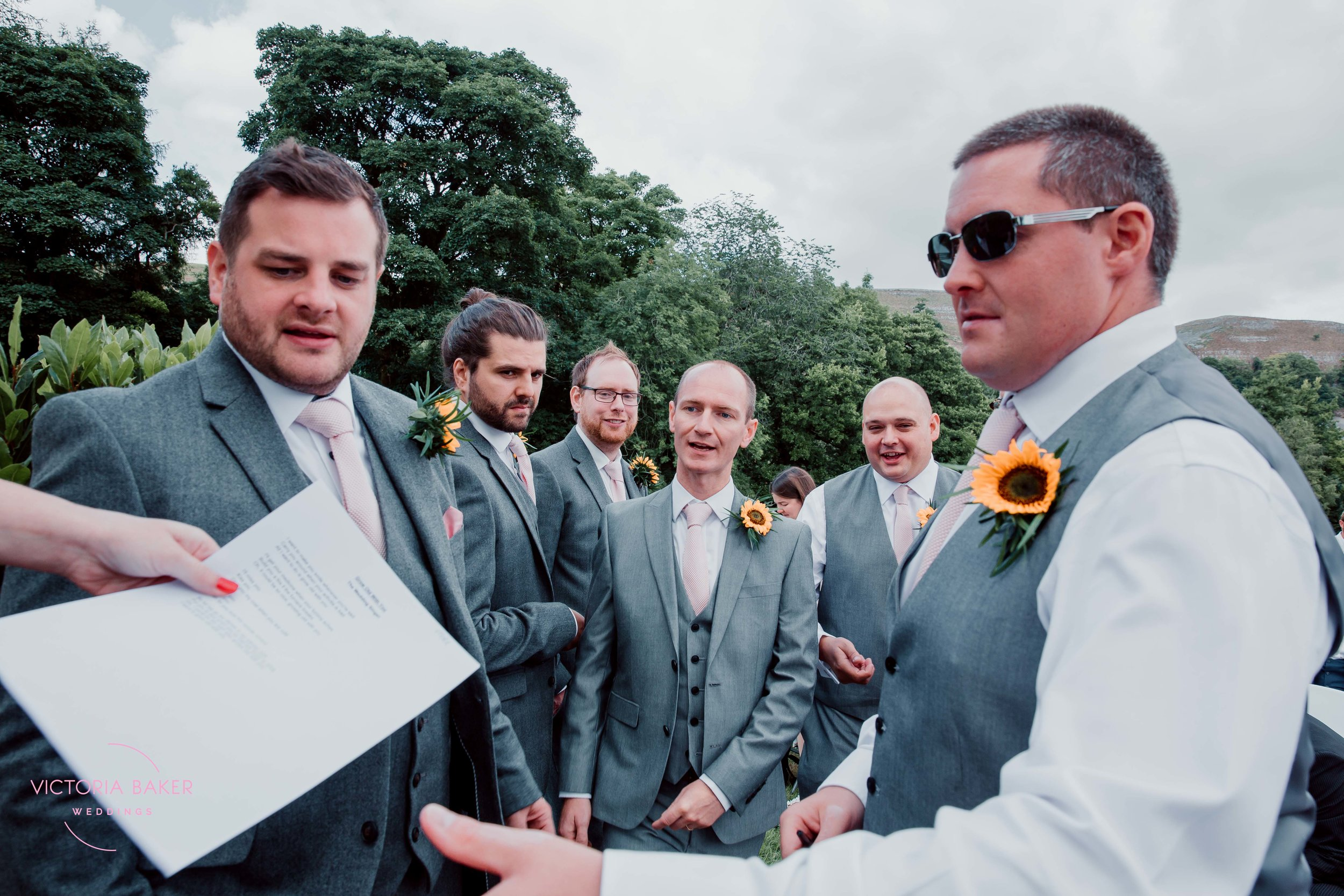 Groomsmen at Kilnsey Park Estate Wedding Photography