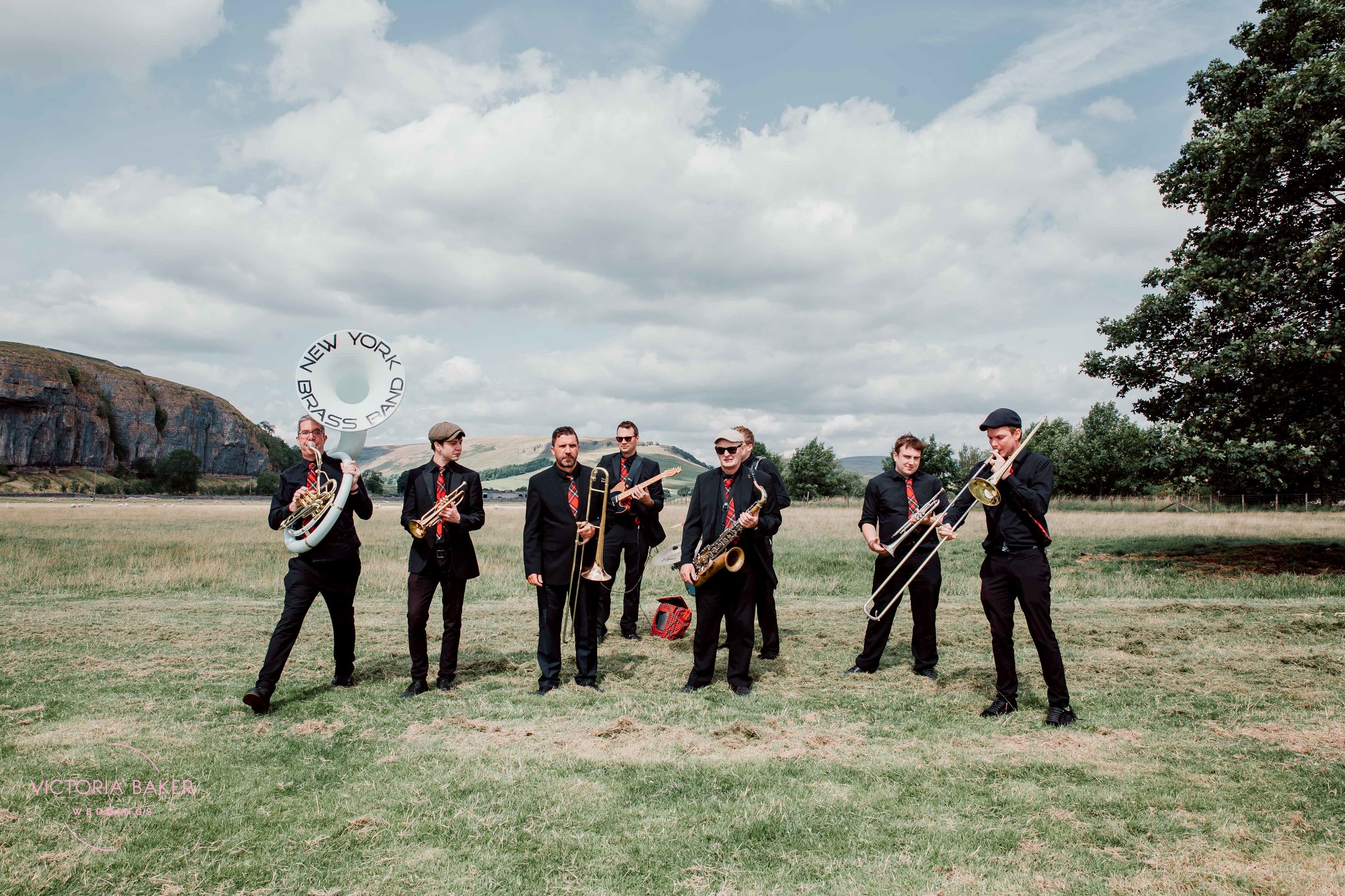 New York Brass Band at Kilnsey Park Estate
