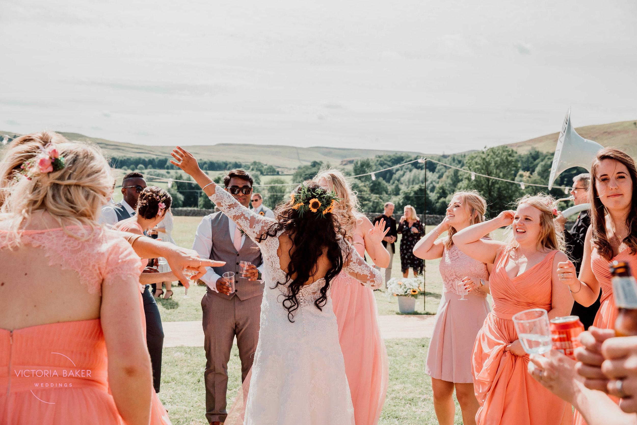 Dancing at Kilnsey Park Estate