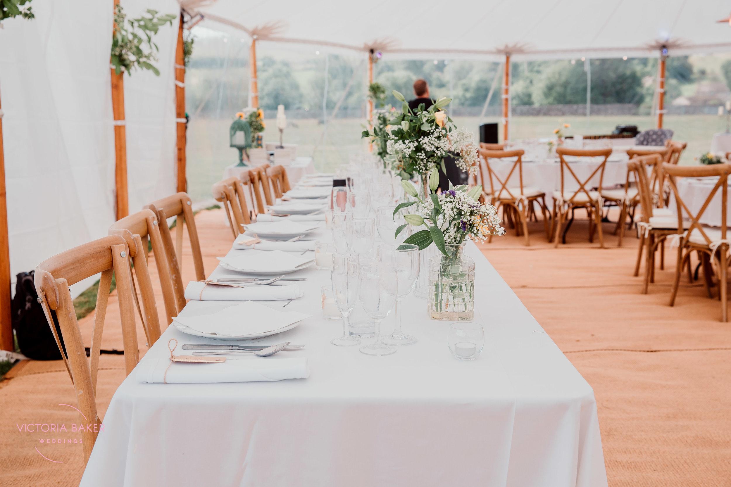 Top table at Kilnsey Park Estate